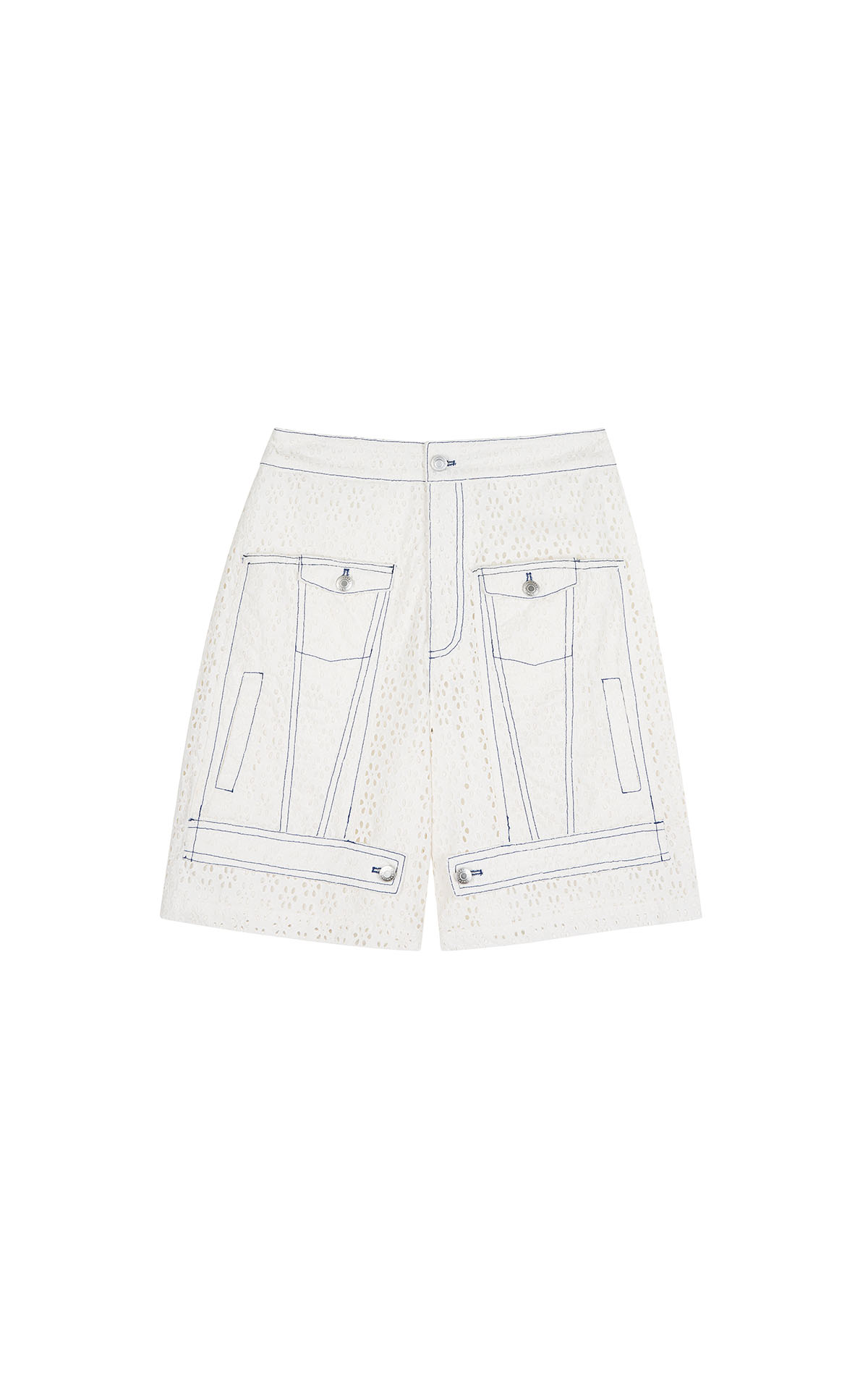 Claudie Pierlot white lace shorts at the bicester village shopping collection