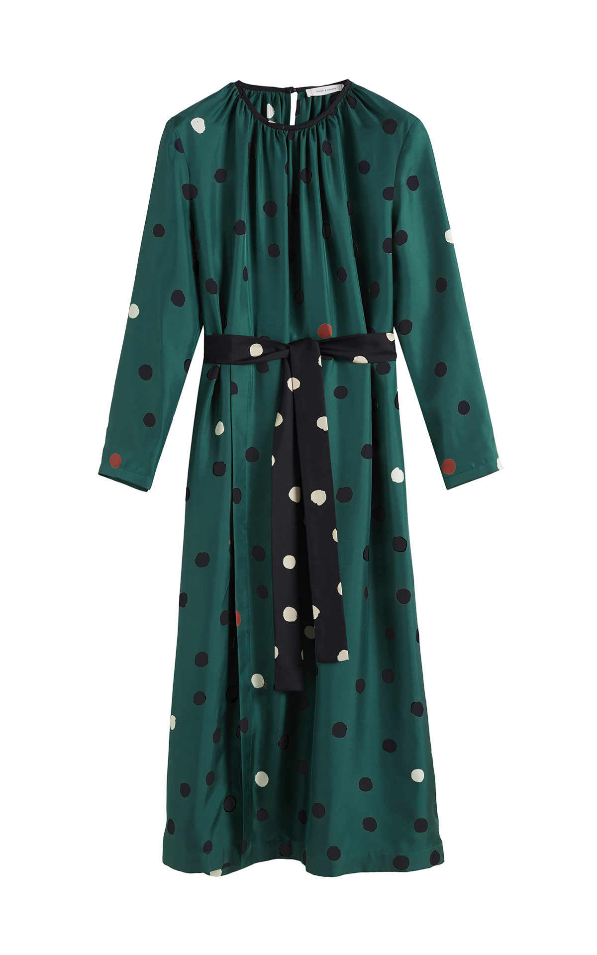Chinti & Parker Green painted spot dress from Bicester Village