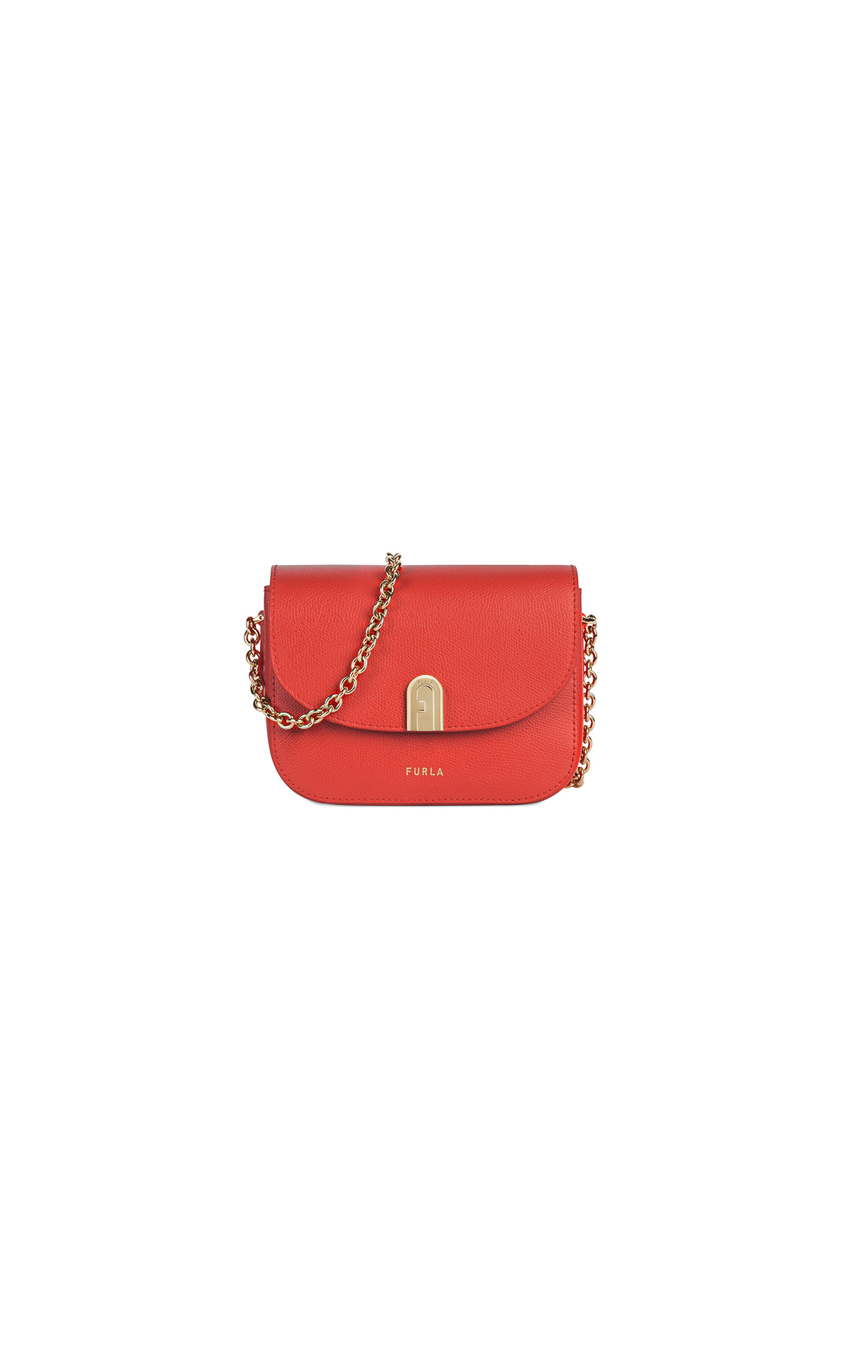 Furla 1927 Mini Crossbody 17 w/Chain Fuoco at The Bicester Village Shopping Collection