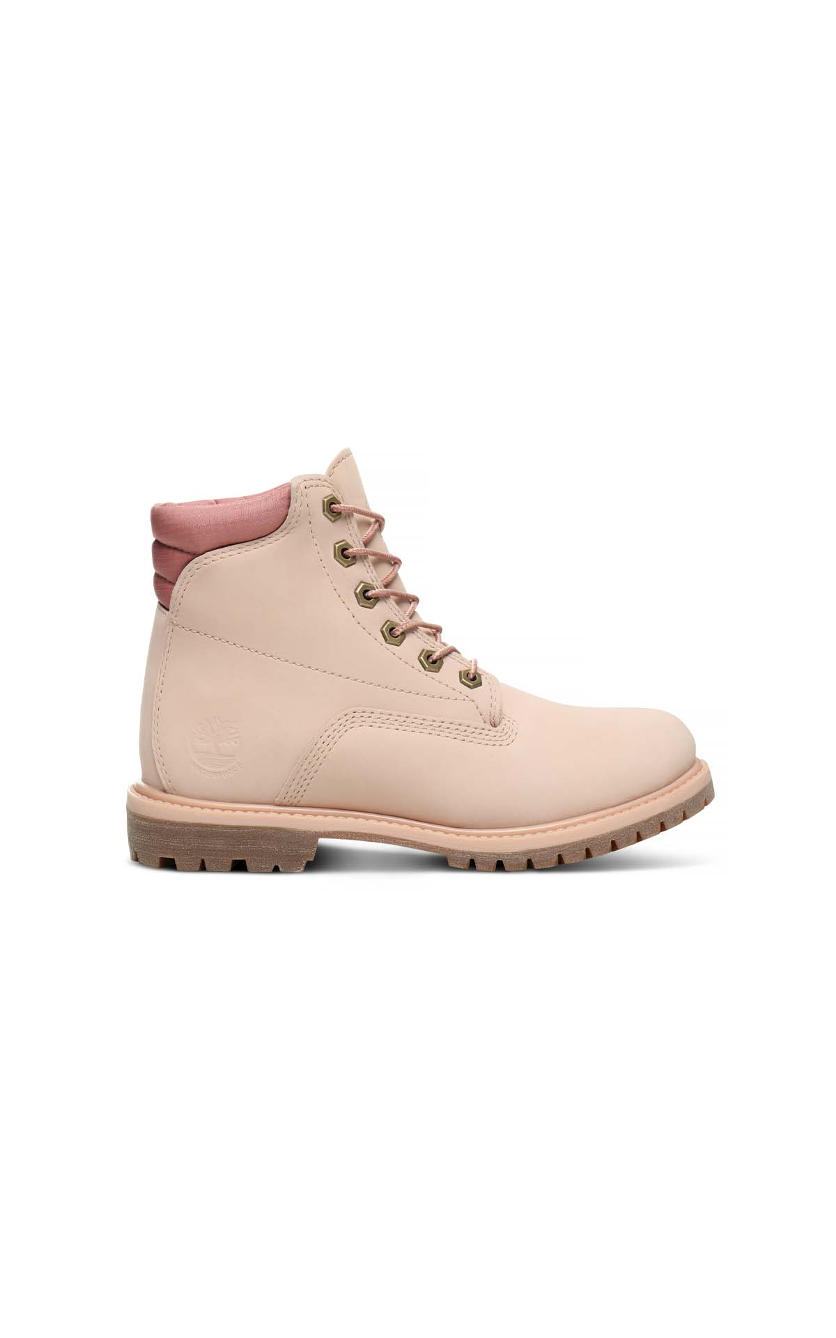 Timberland Women's Light Pink Nubuck  Waterville 6in Basic WP