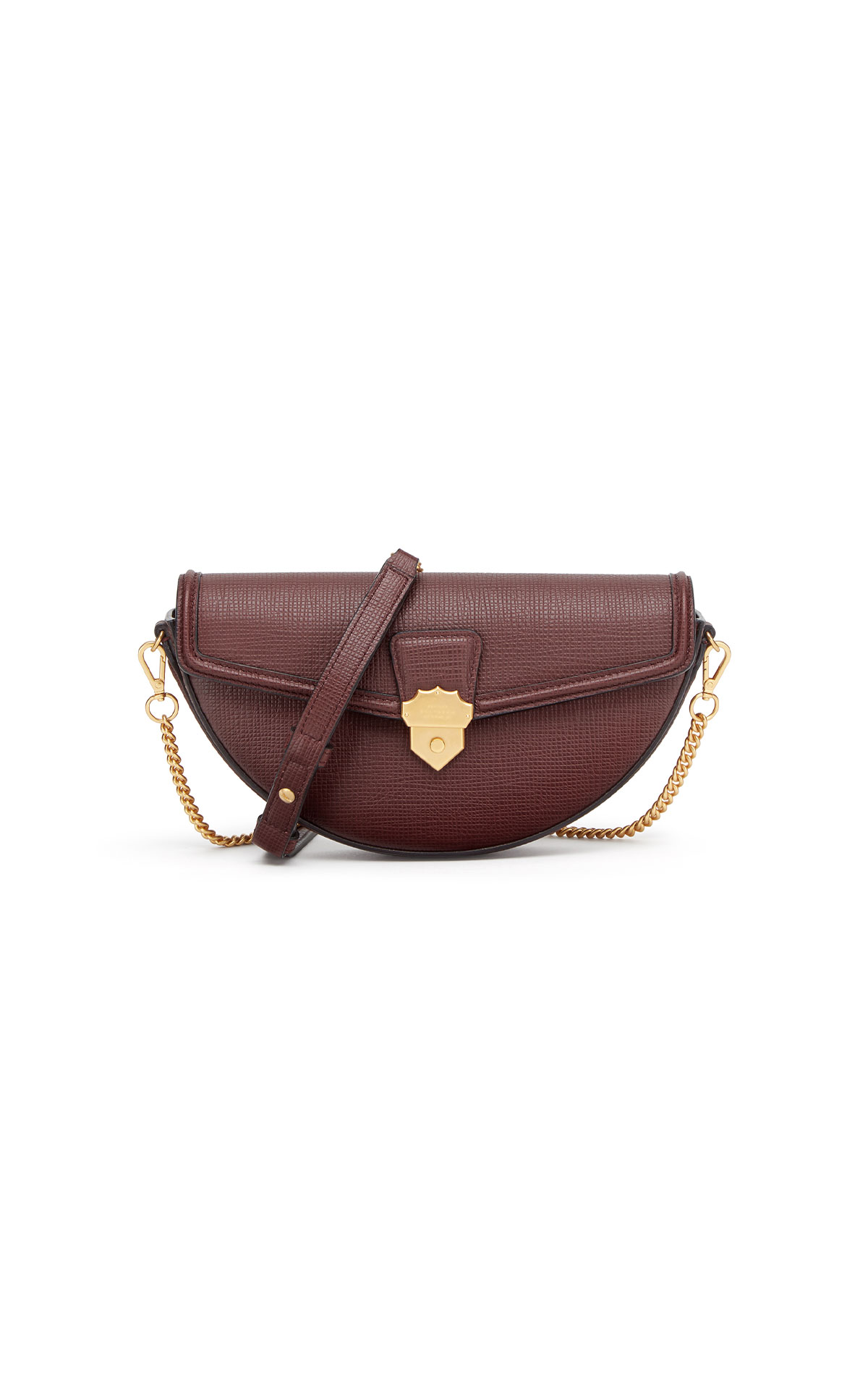 Smythson Semi circle crossbody chain bag from Bicester Village