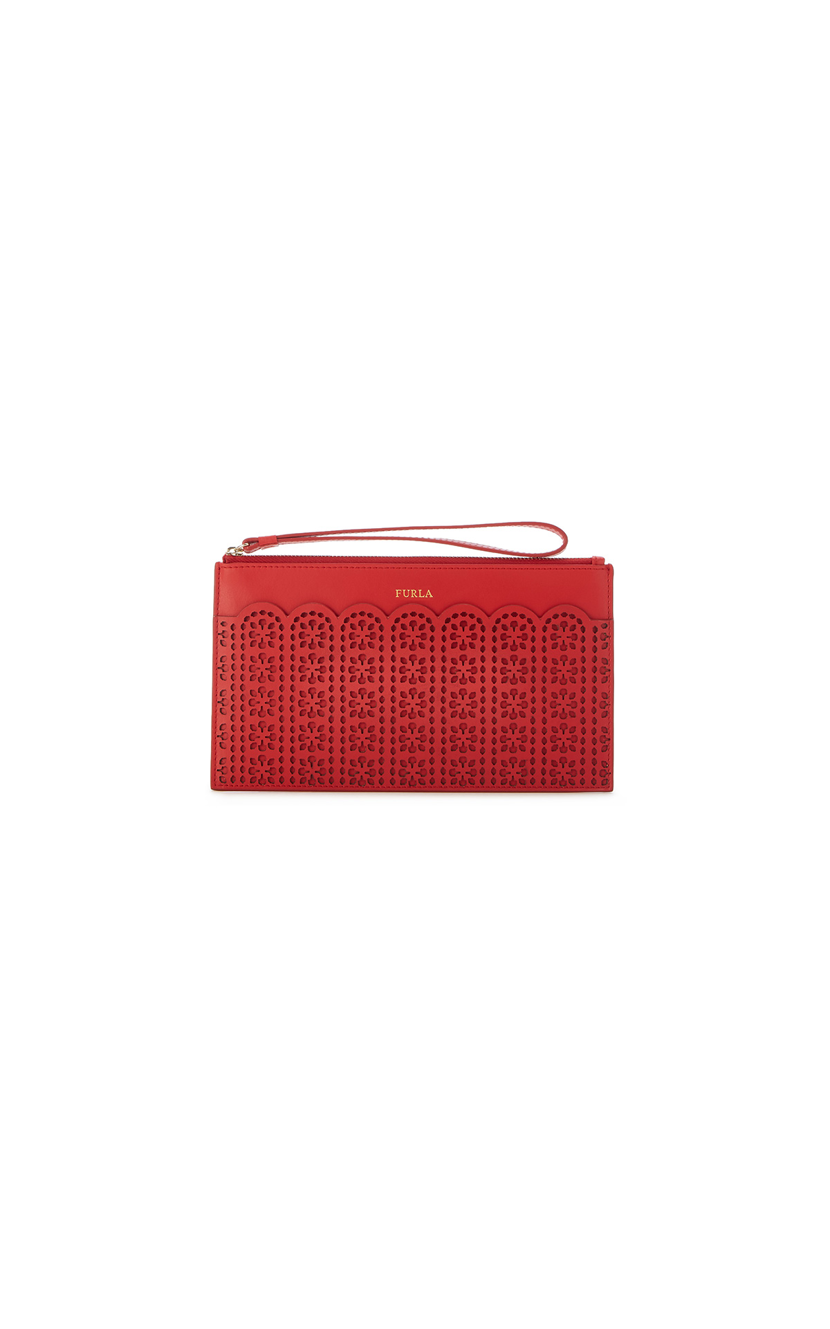 Furla Italia XL envelope in red at The Bicester Village Shopping Collection