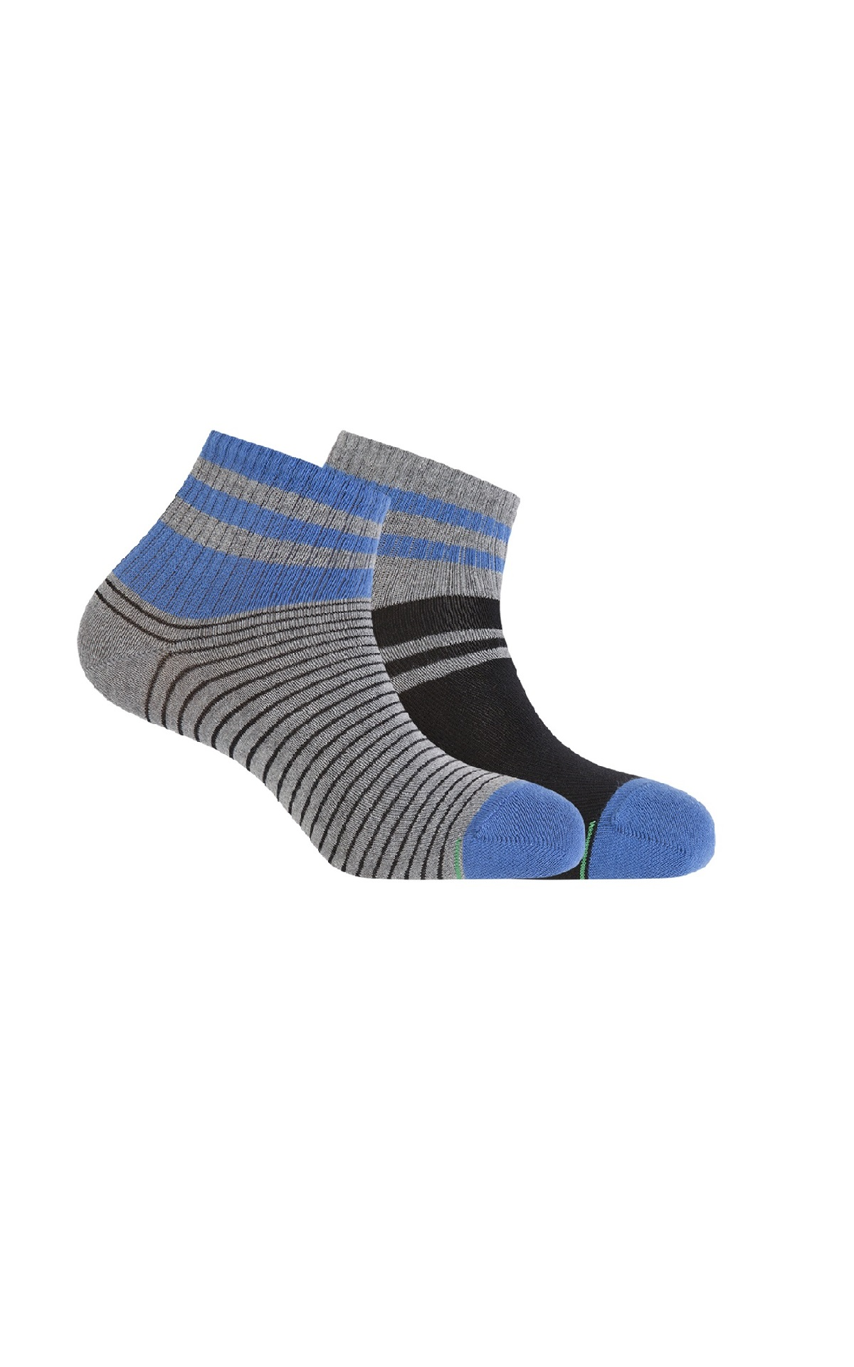 Grey and blue sock Punto Blanco