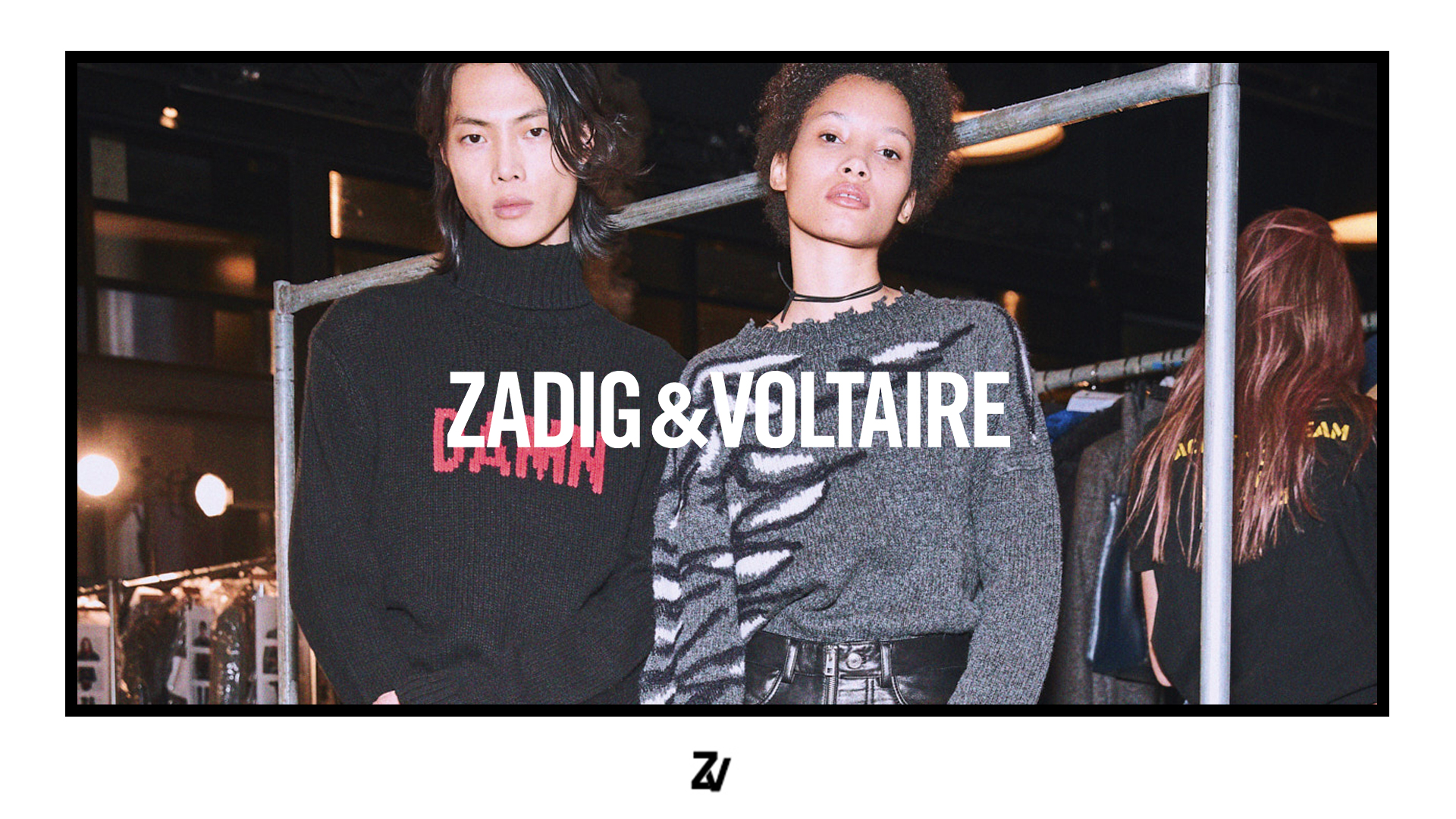 Two models wearing Zadig&Voltaire clothes