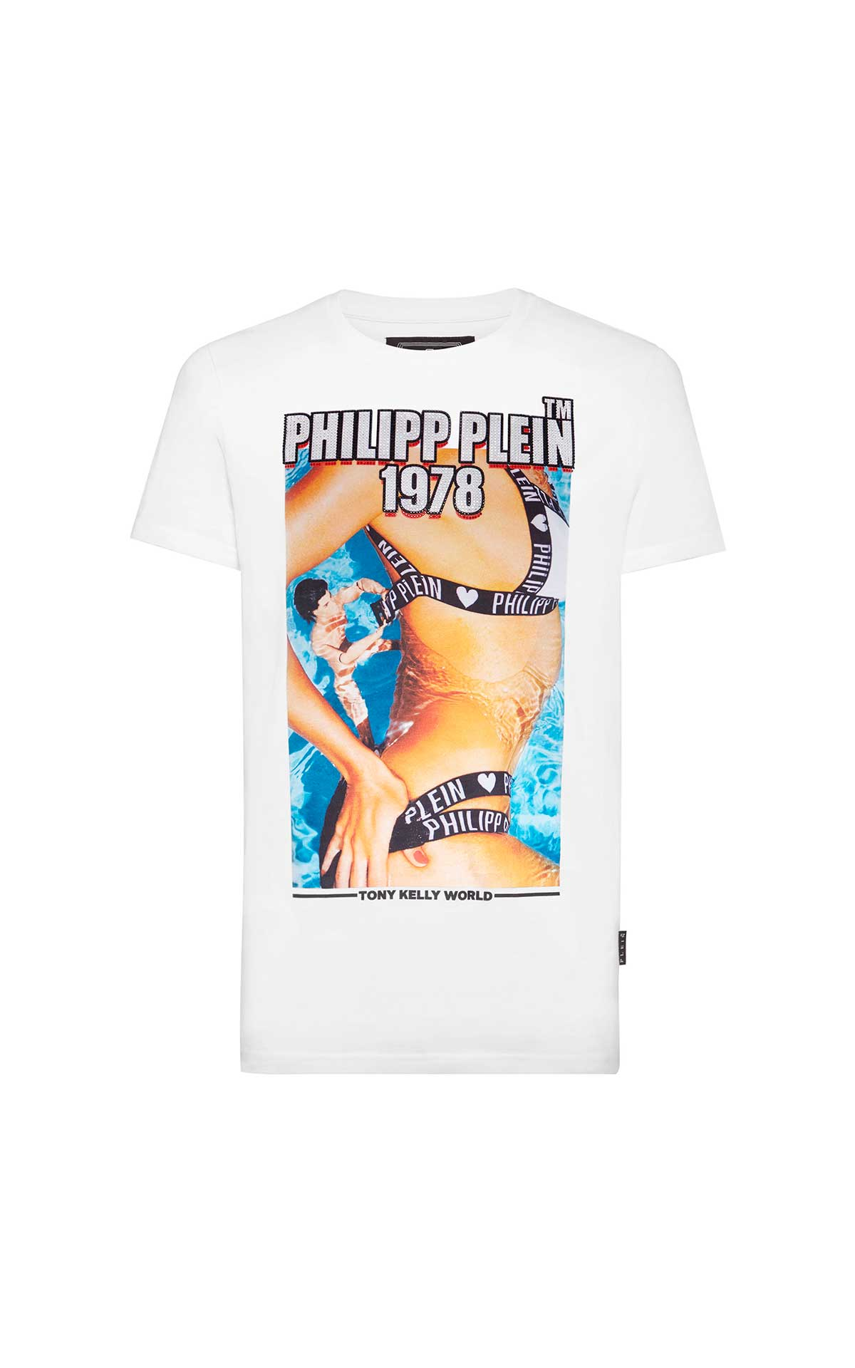 White T-shirt Tony Kelly Philipp Plein