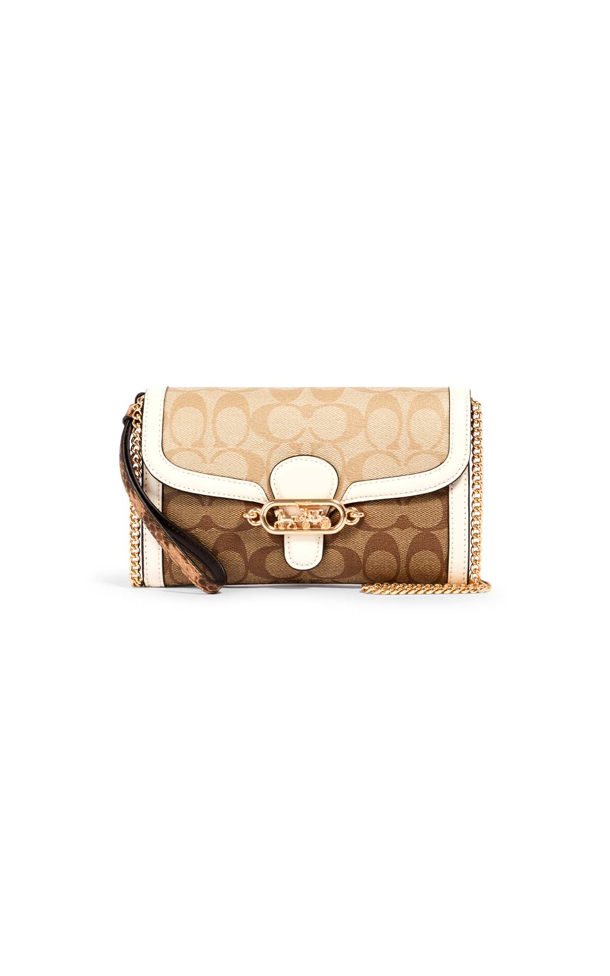 Coach Jade Bag in khaki/chalk at The Bicester Village Shopping Collection