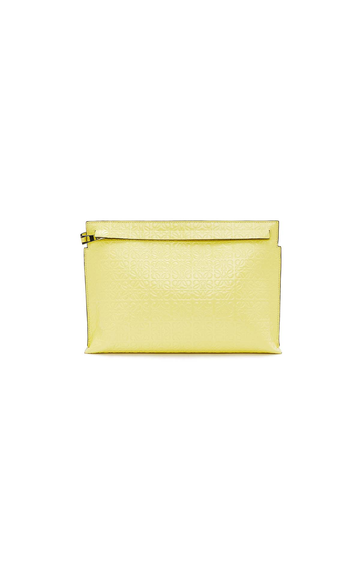 Loewe T pouch repeat in yellow at The Bicester Village Shopping Collection
