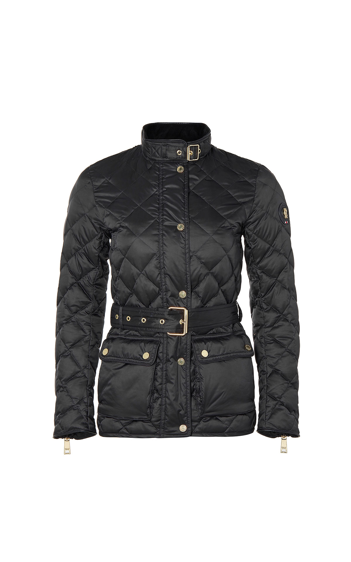 Holland Cooper Diamond quilt heritage jacket in black from Bicester Village