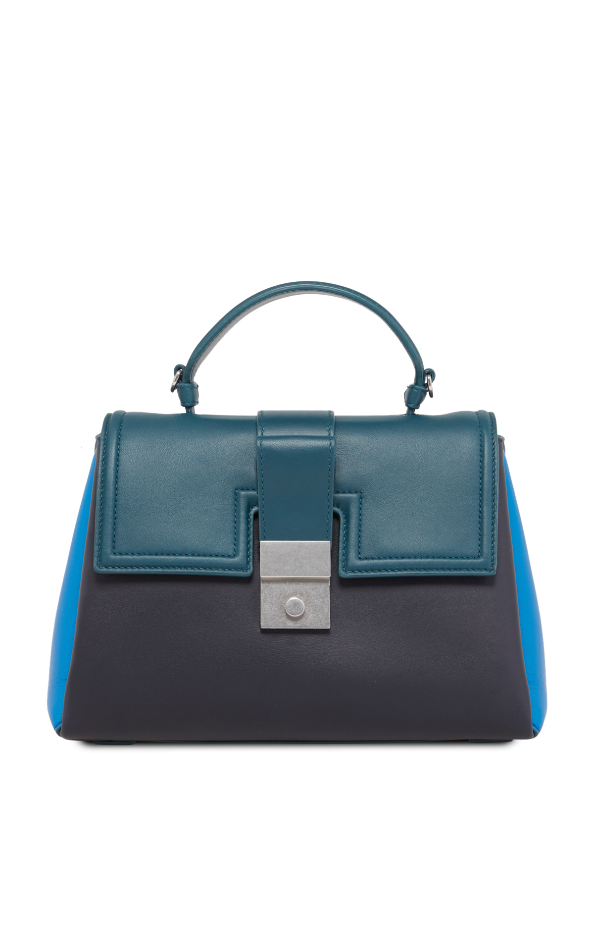 Bottega Veneta Black and green leather handbag