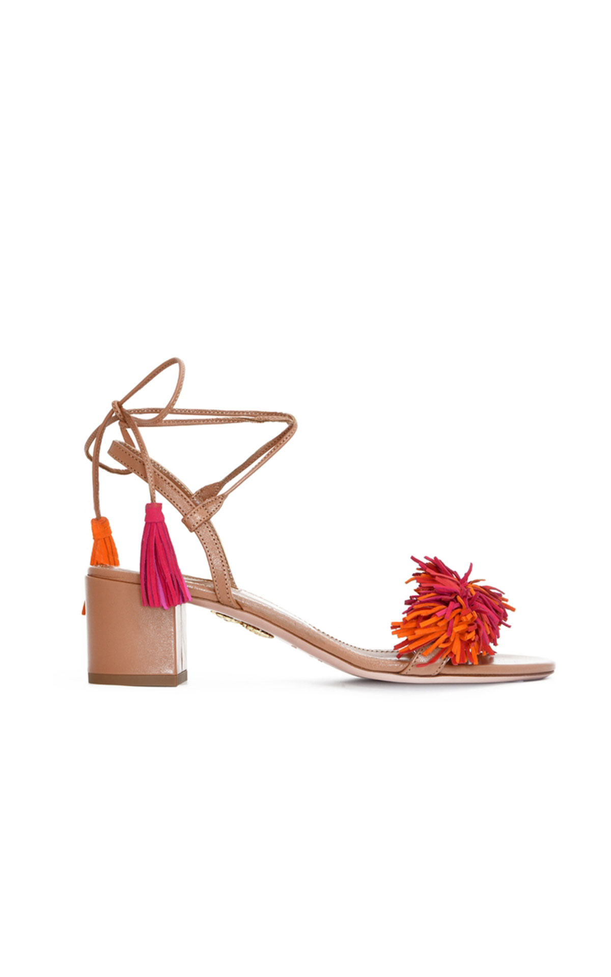Aquazzura Wild thing 50 whiskey/ multi red from Bicester Village
