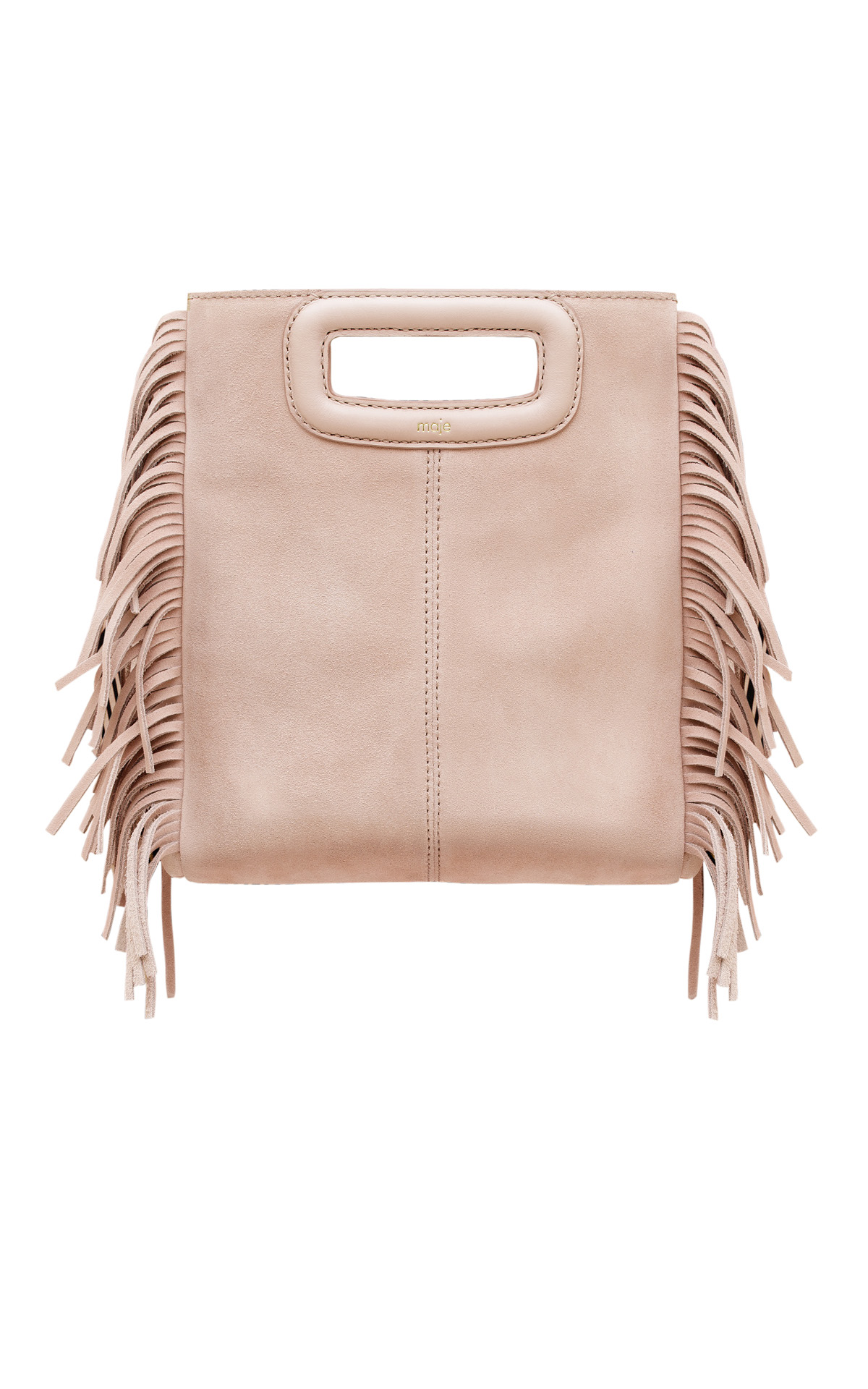 Light pink M bag Maje