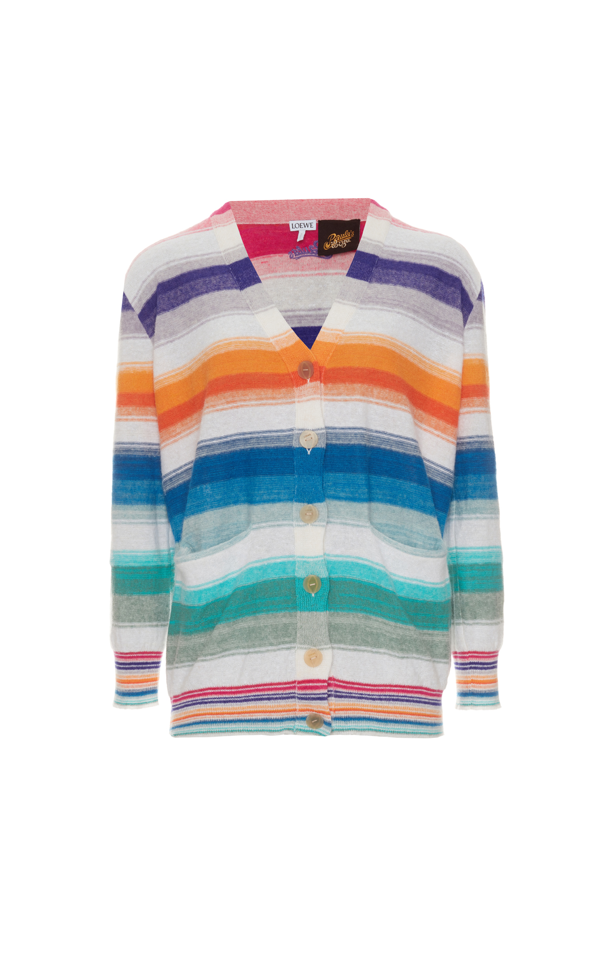 La Vallée Village Loewe Paula Stripe Cardigan Multicolour/White