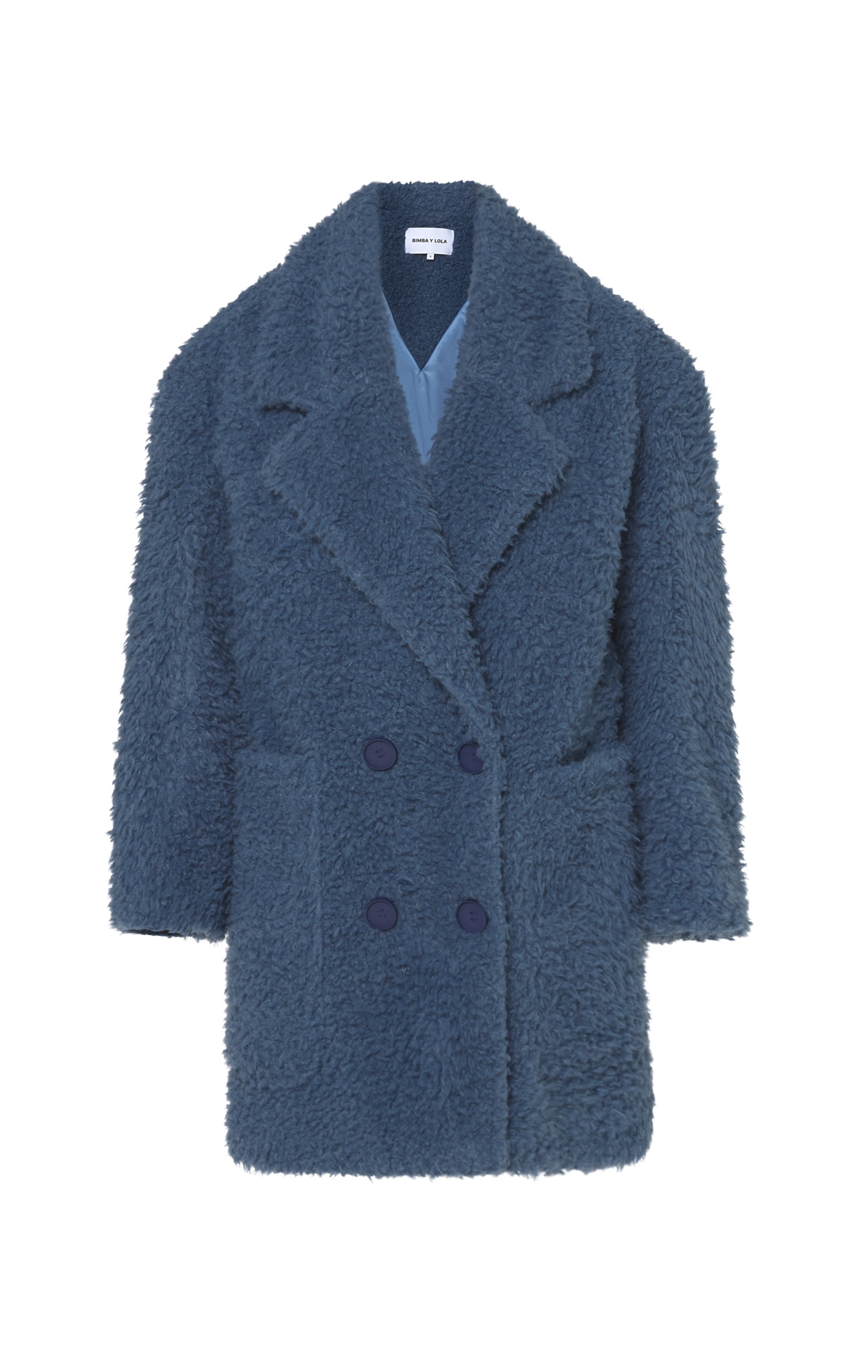 Blue faux shearling coat for women ba&sh