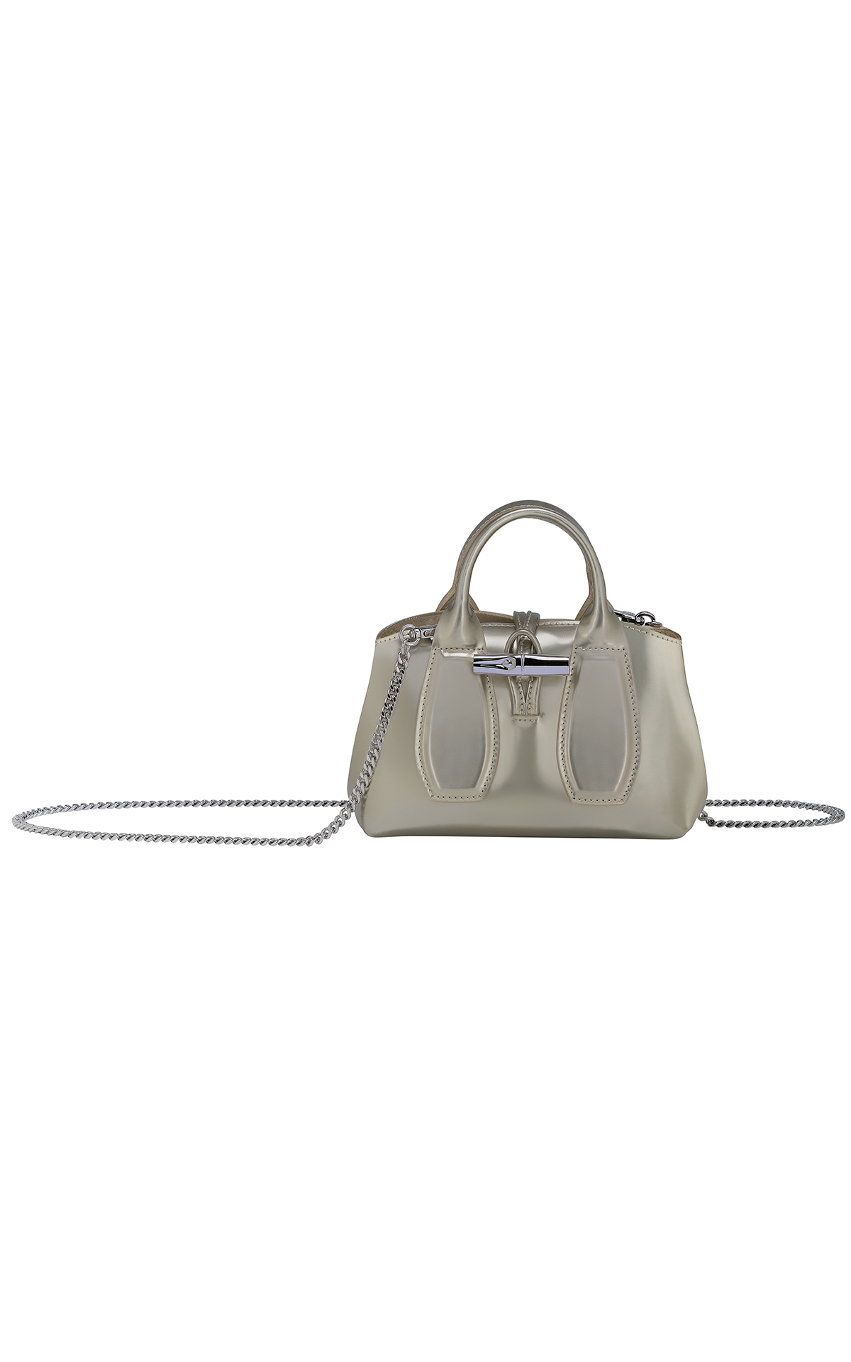 La Vallée Village Longchamp grey handbag