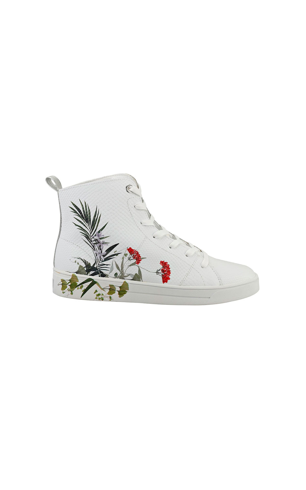 White sneaker with flowers Ted Baker