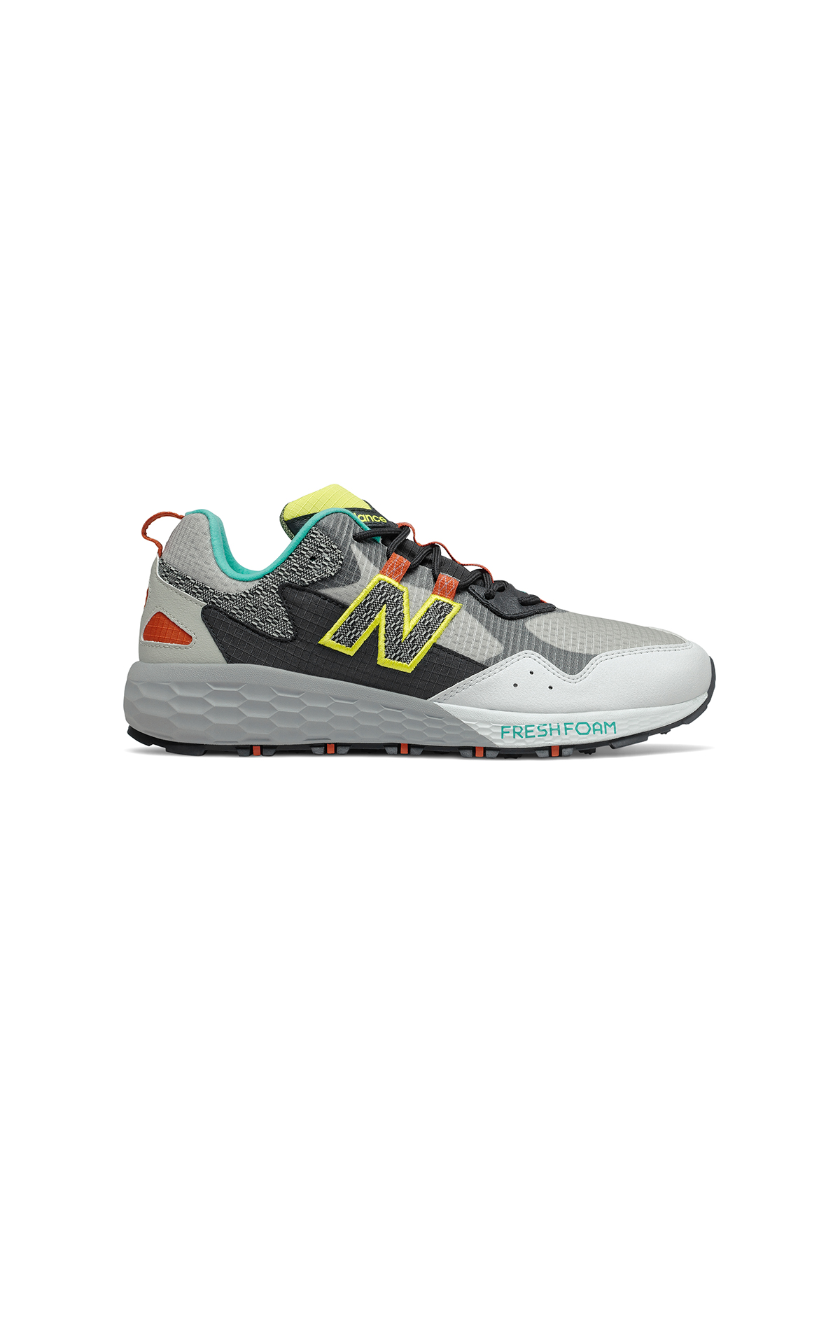 Grey, green and yellow sneaker for man New Balance