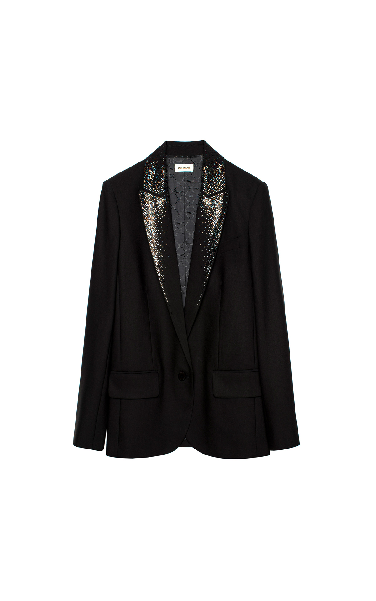 Zadig & Voltaire Black Viking Strass jacket | La Vallée Village
