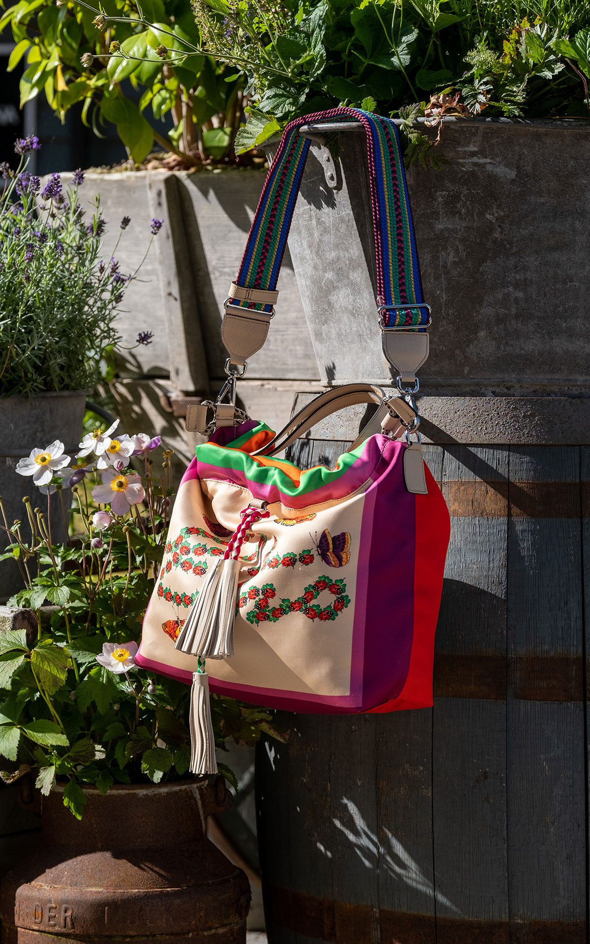 Etro Silk print tote bag from Bicester Village