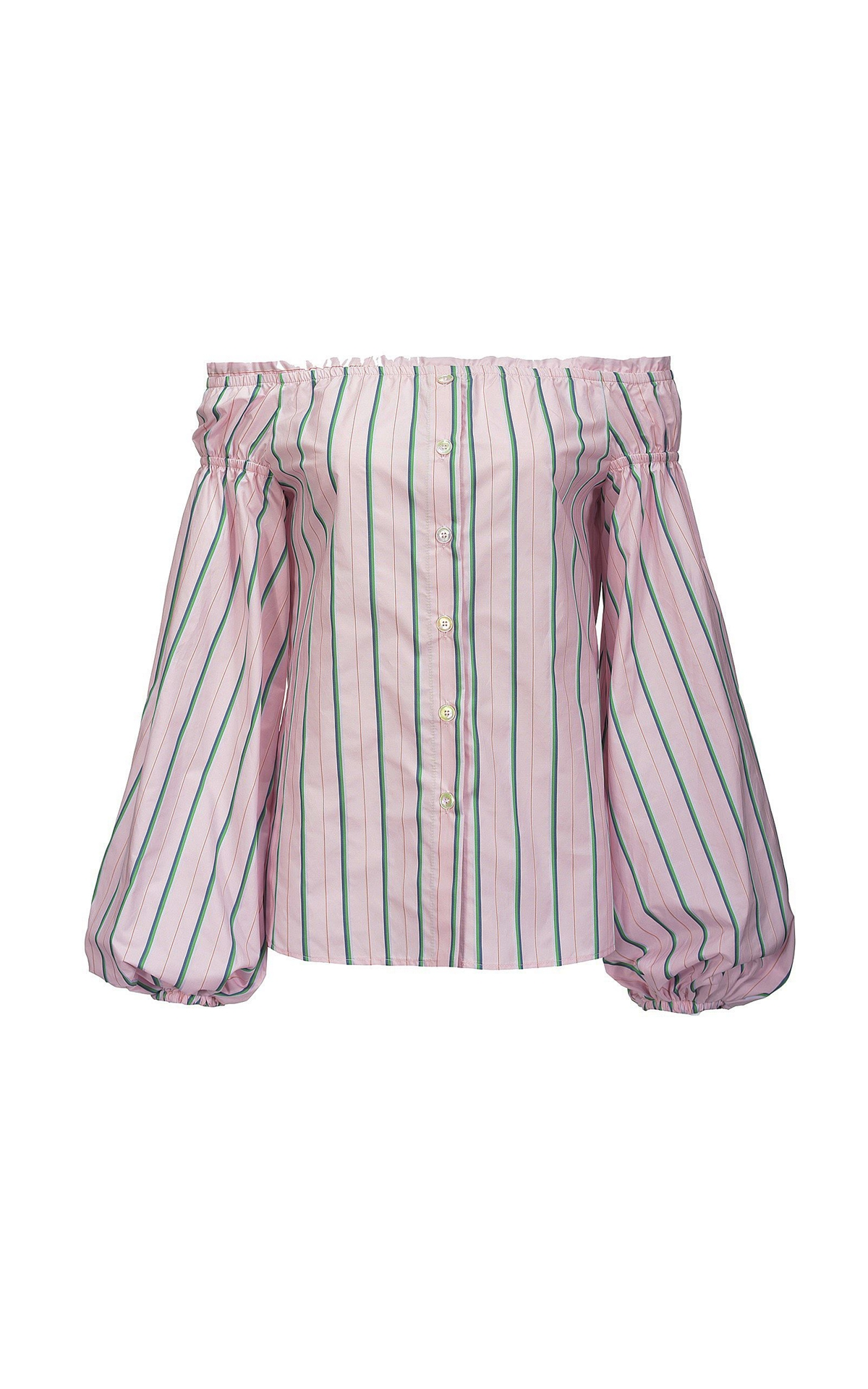 Pink and green striped blouse Pinko
