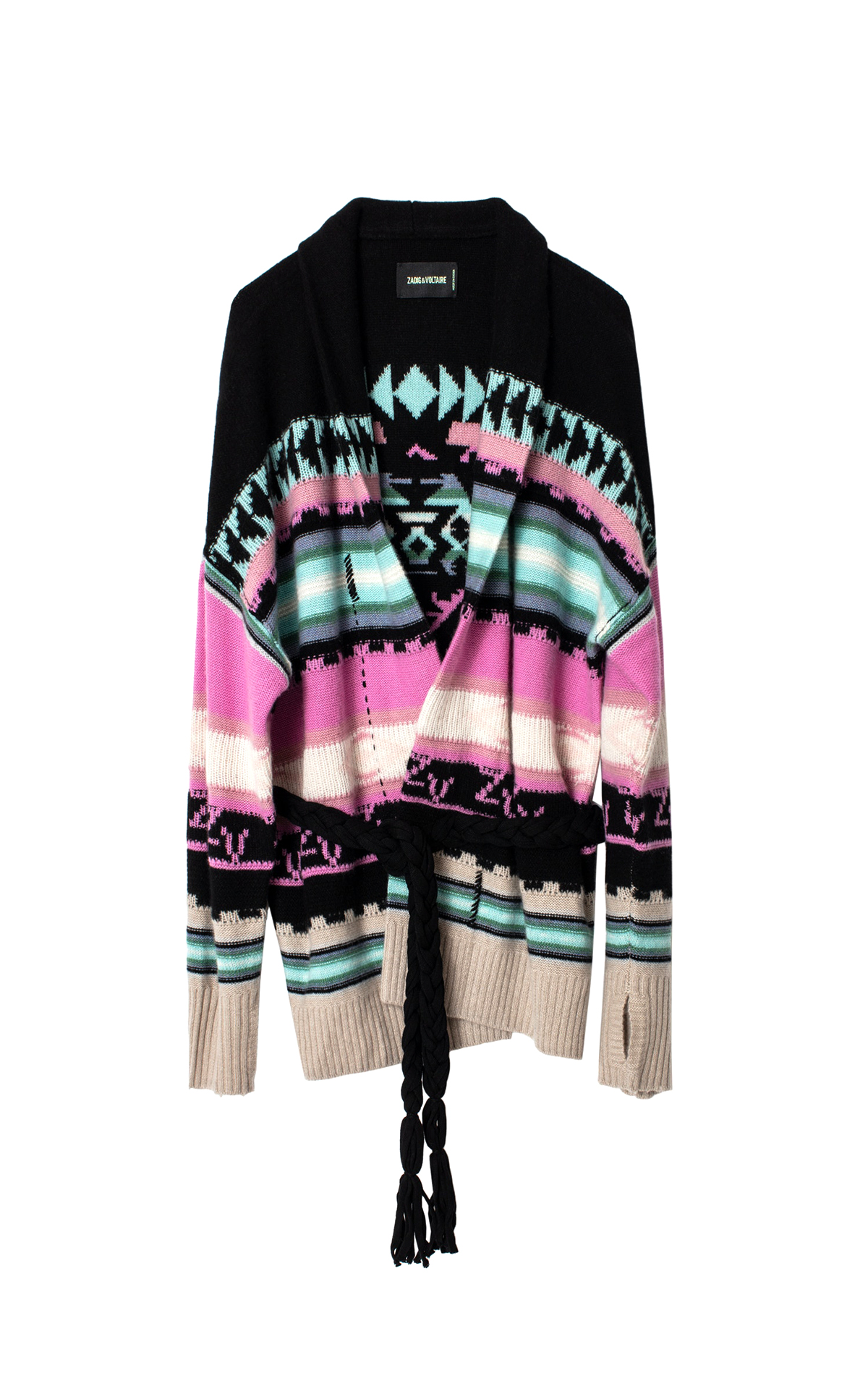 Printed cashmere cardigan Zadig & Voltaire