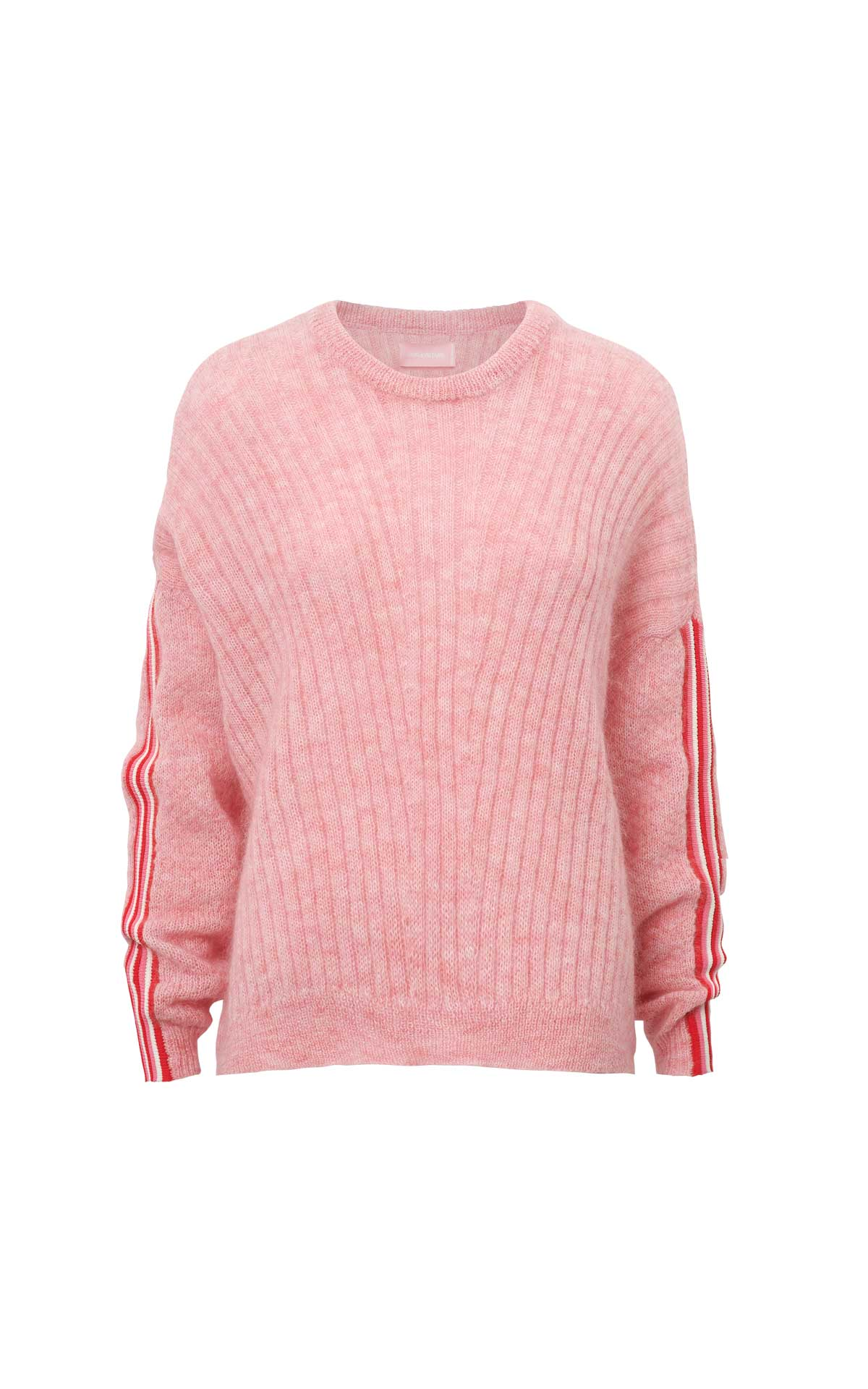 Pink striped sleeve sweater Zadig & Voltaire