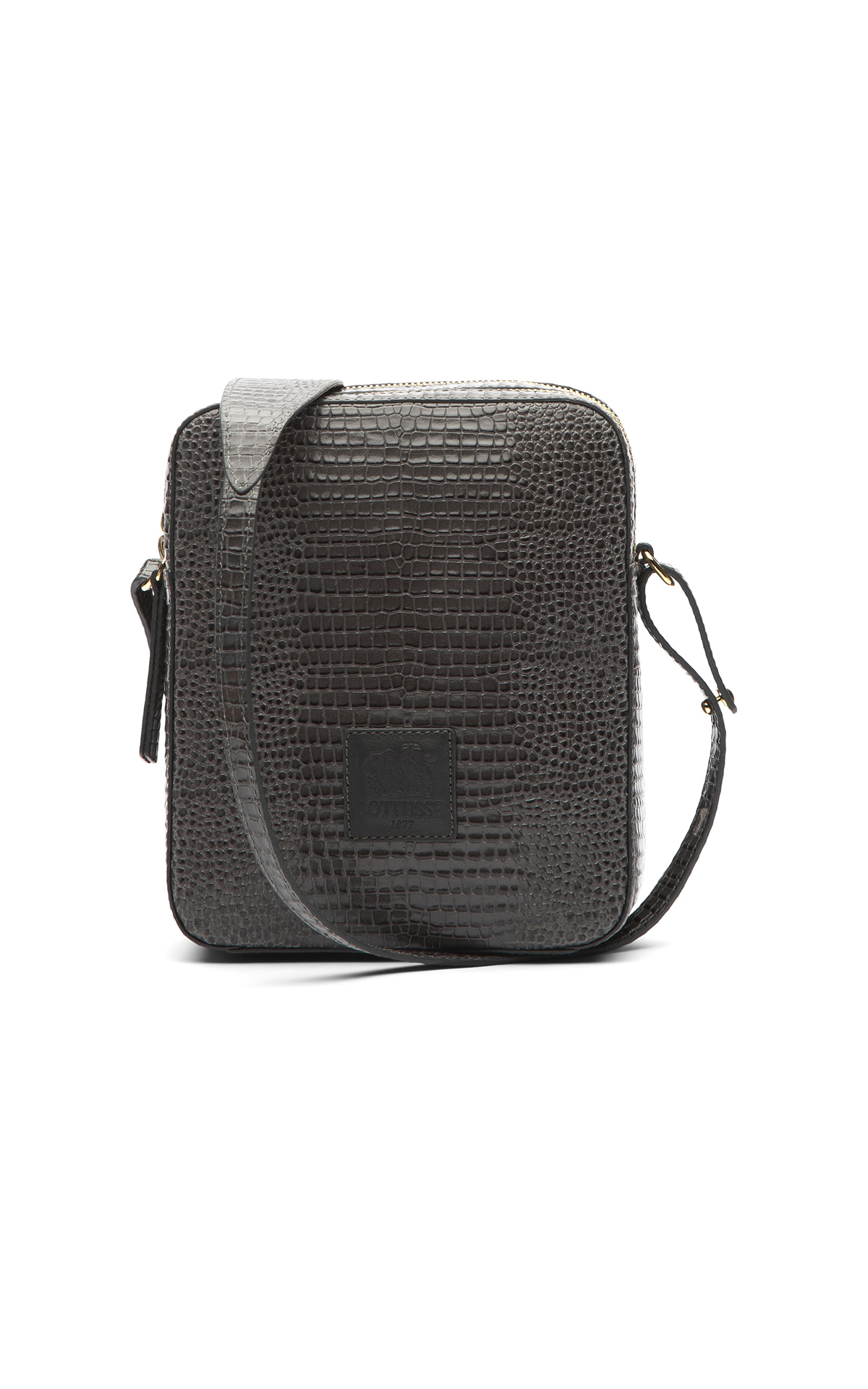 Grey croco shoulder bag Lottusse