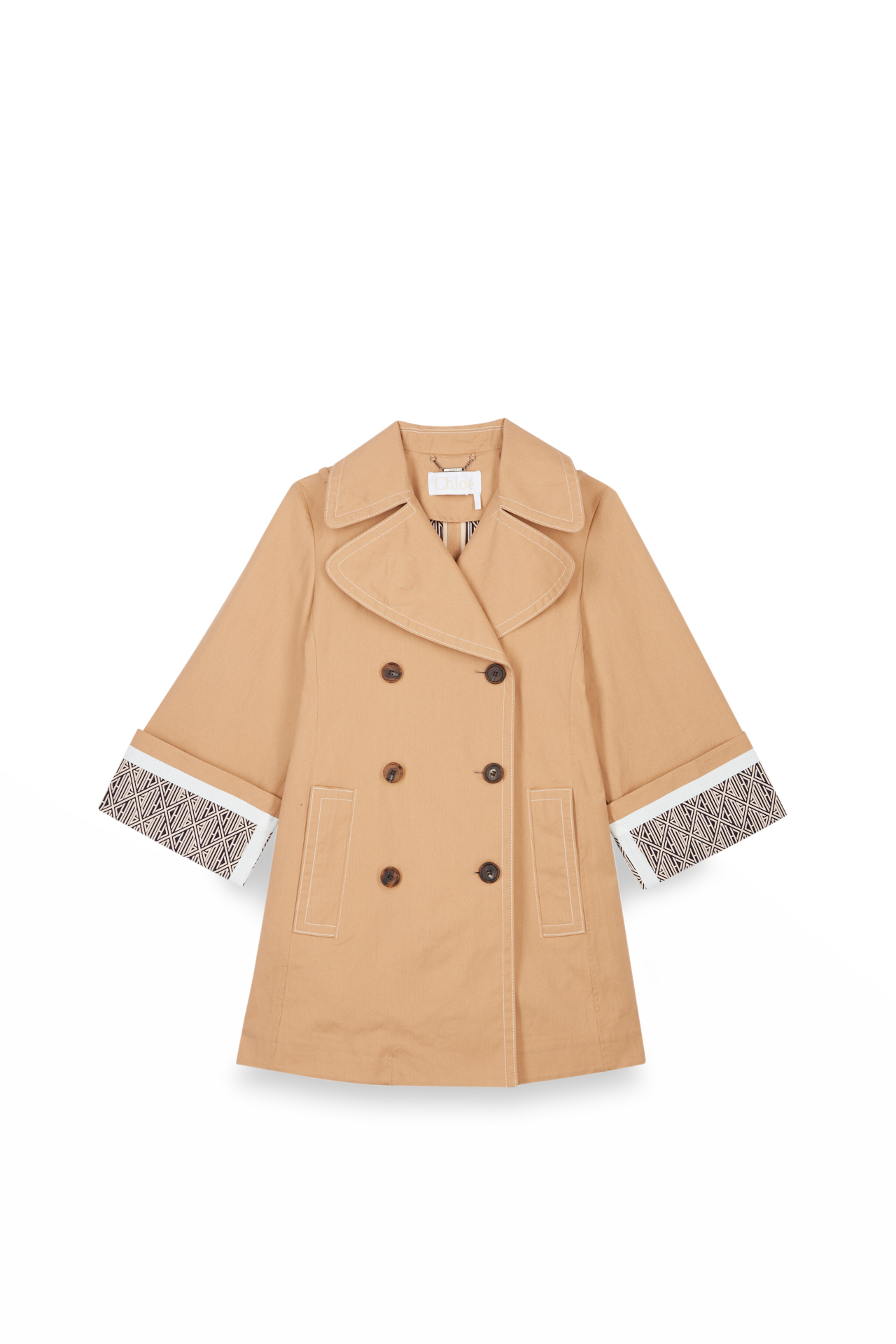 Chloé Trench coat with printed sleeves La Vallée Village