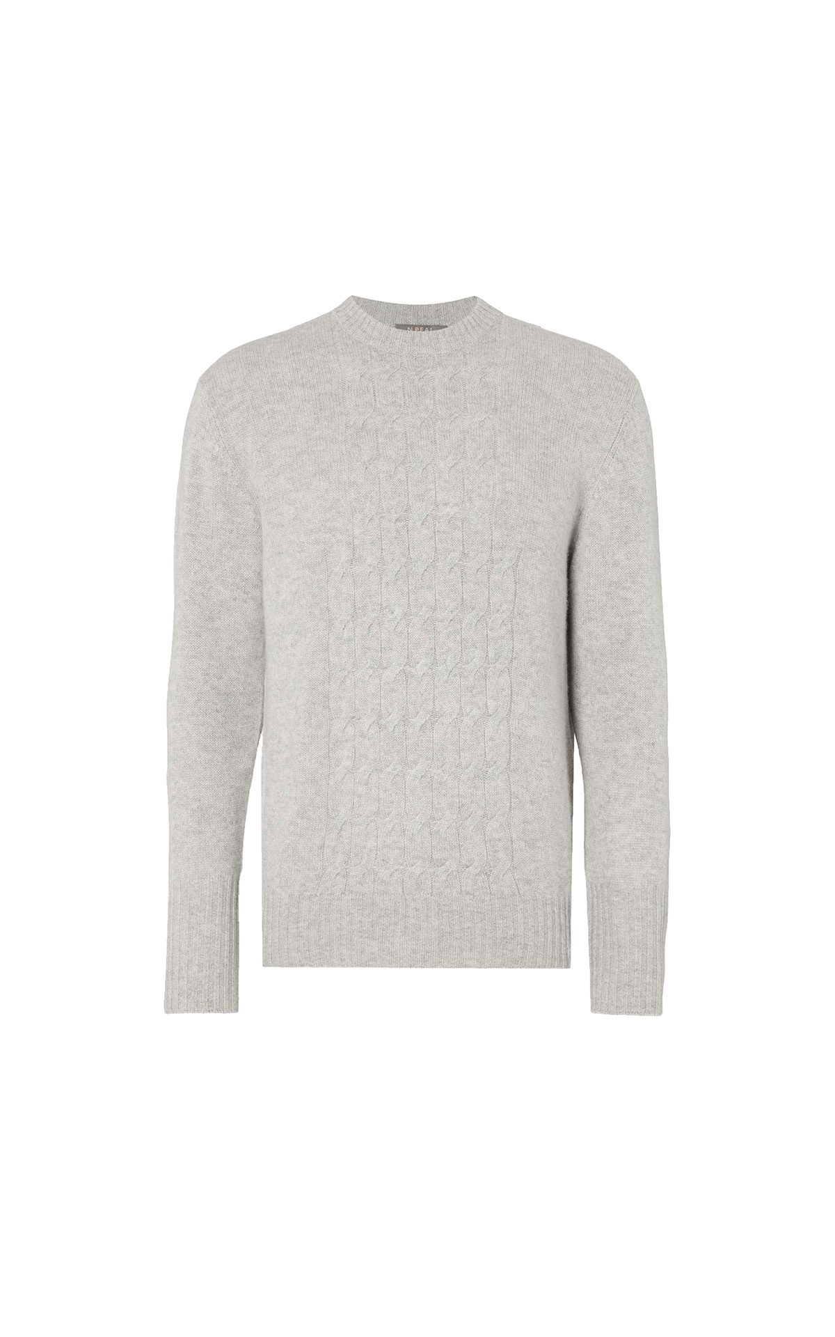 N.Peal Men's placement cable sweater  from Bicester Village