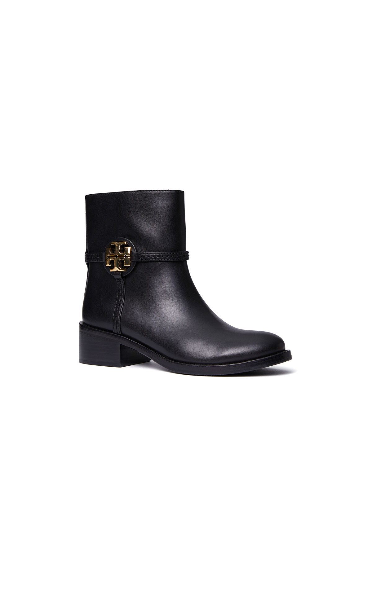 Tory Burch Miller 45mm bootie in black at The Bicester Village Shopping Collection