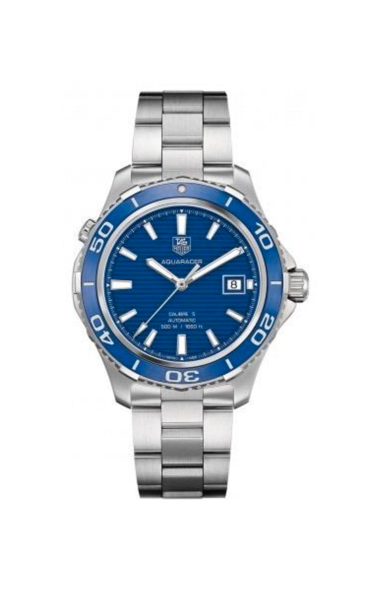 Silver and blue watch for man TAG Heuer