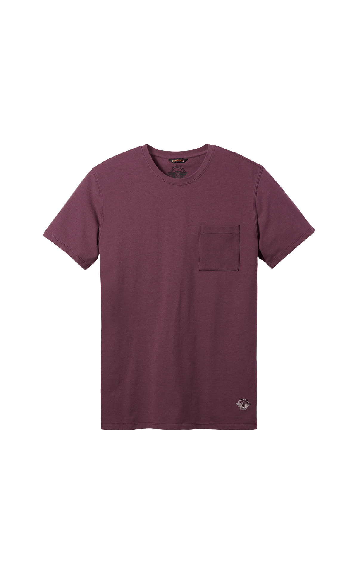 Burgundy T-shirt short sleeves with a pocket for man Dockers