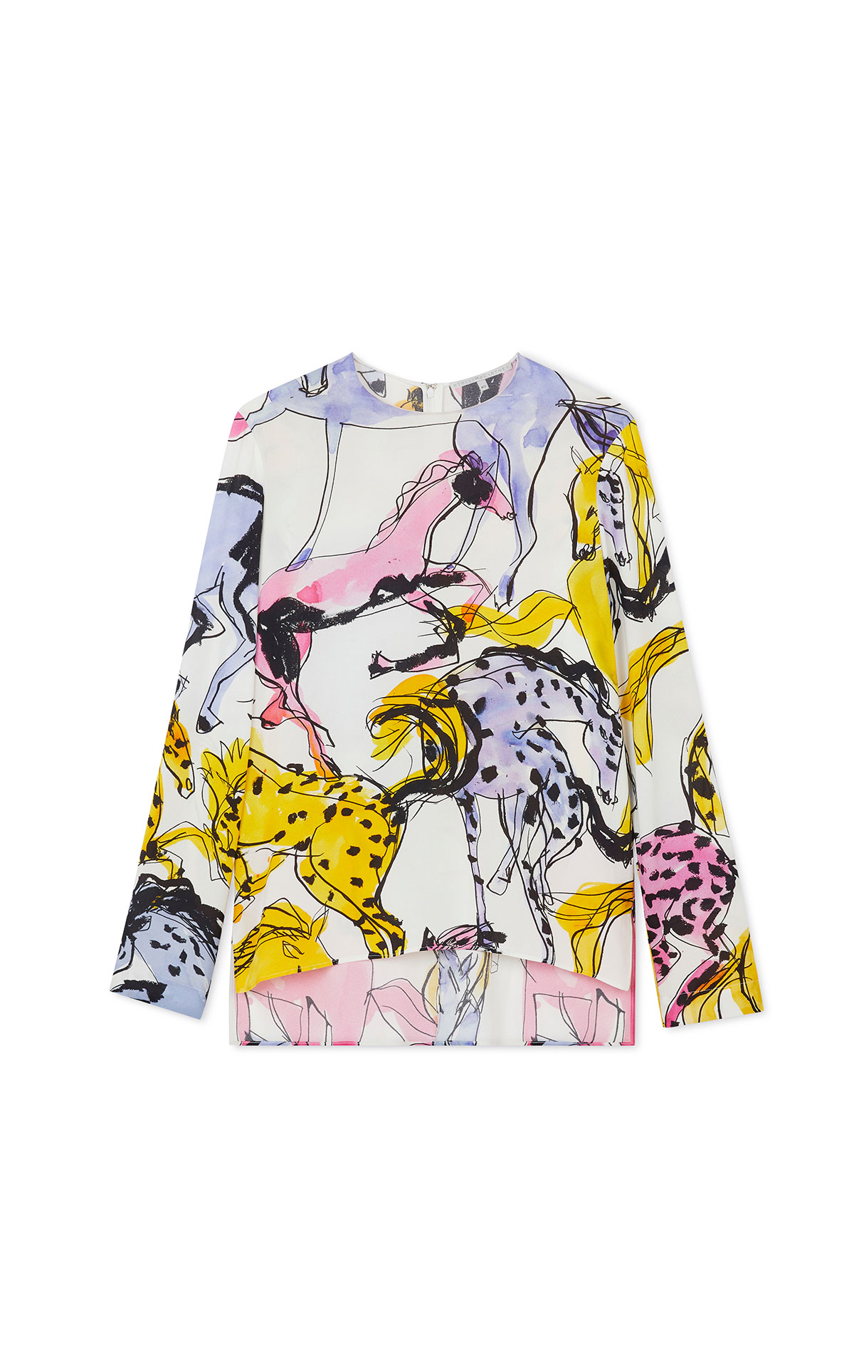 Stella McCartney Jacey printed long sleeve blouse from Bicester Village