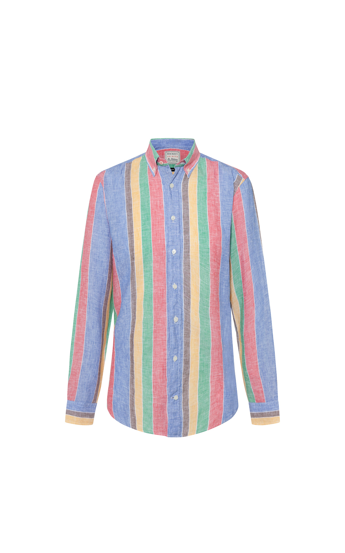 Hackett Archive Multi Coloured Linen Shirt at The Bicester Village Shopping Collection
