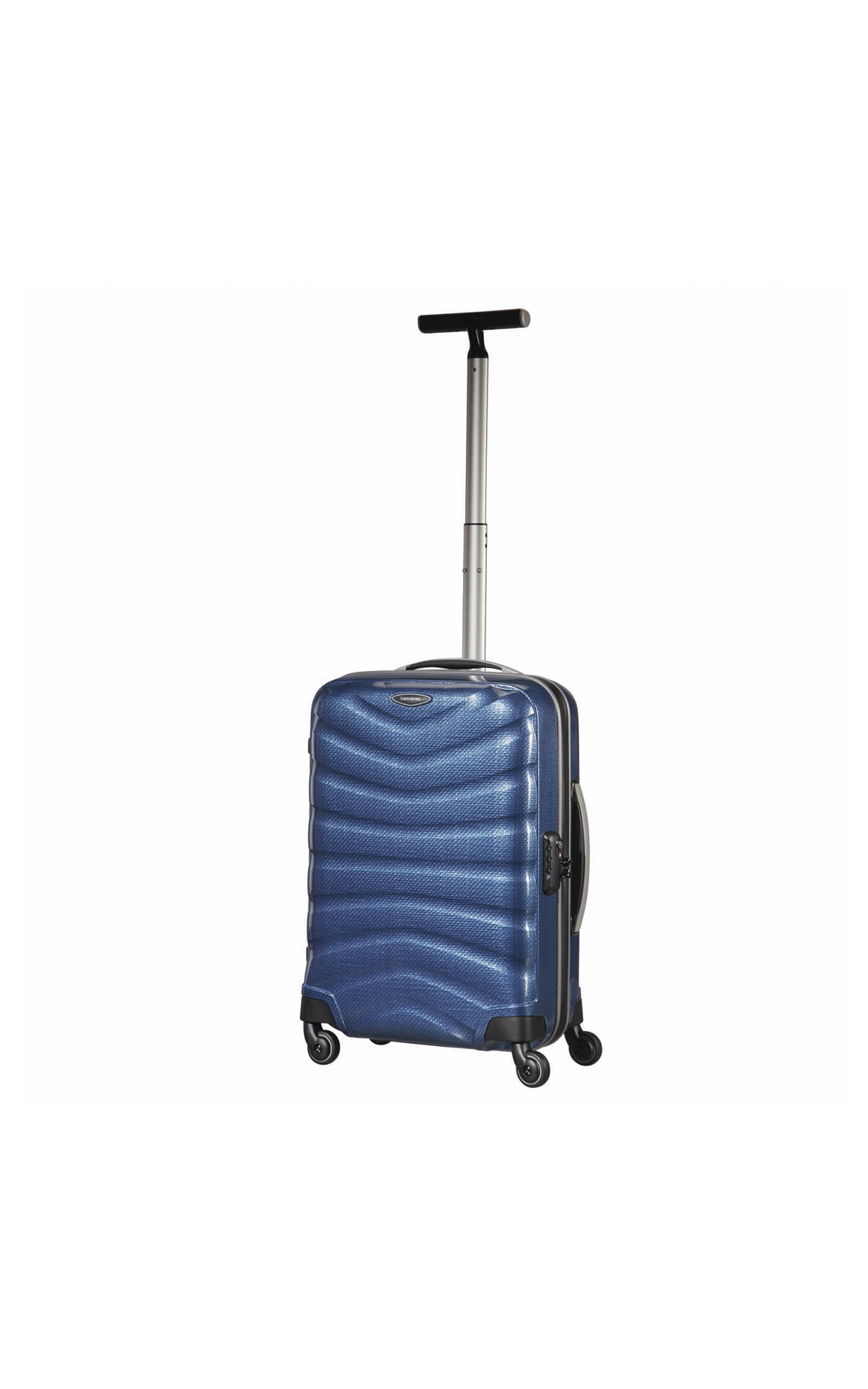 Blue Firelite suitcase Samsonite