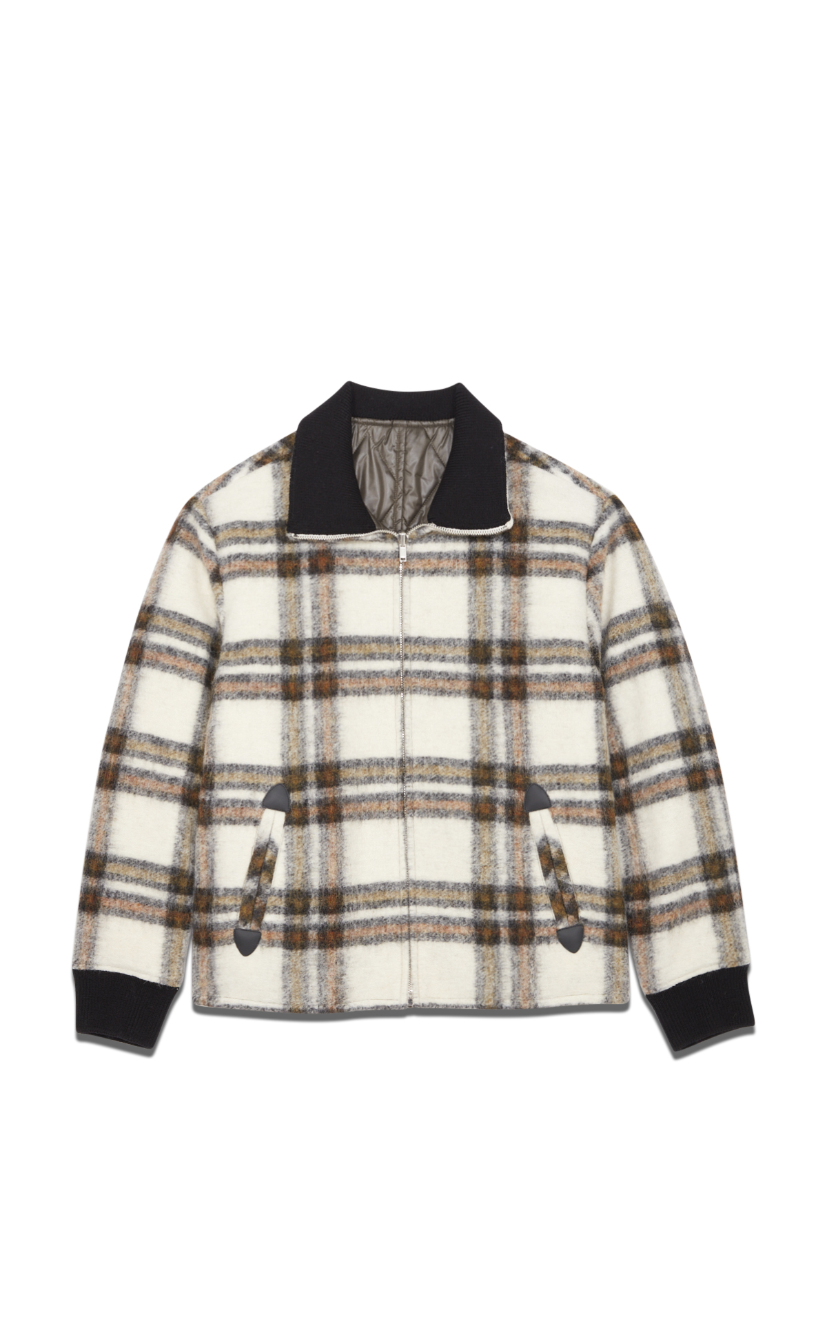 Isabel Marant Men's khaki checked coat*