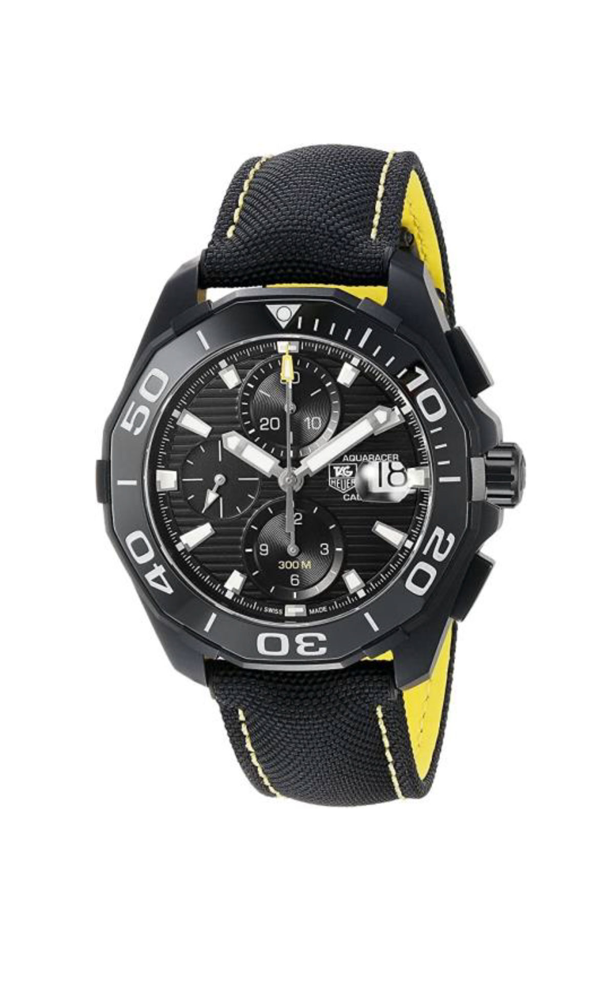 Black and yellow watch for man TAG Heuer