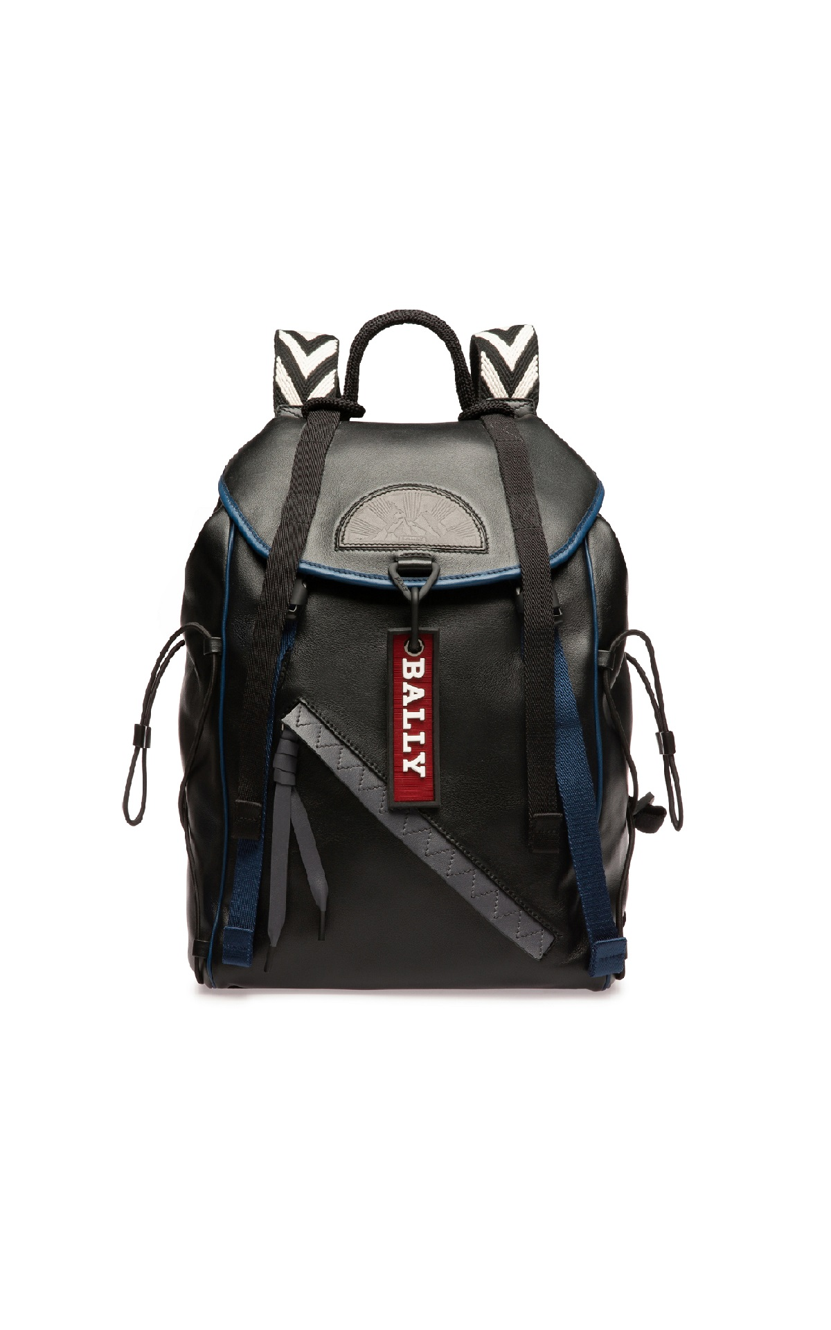 Black leather backpack Bally