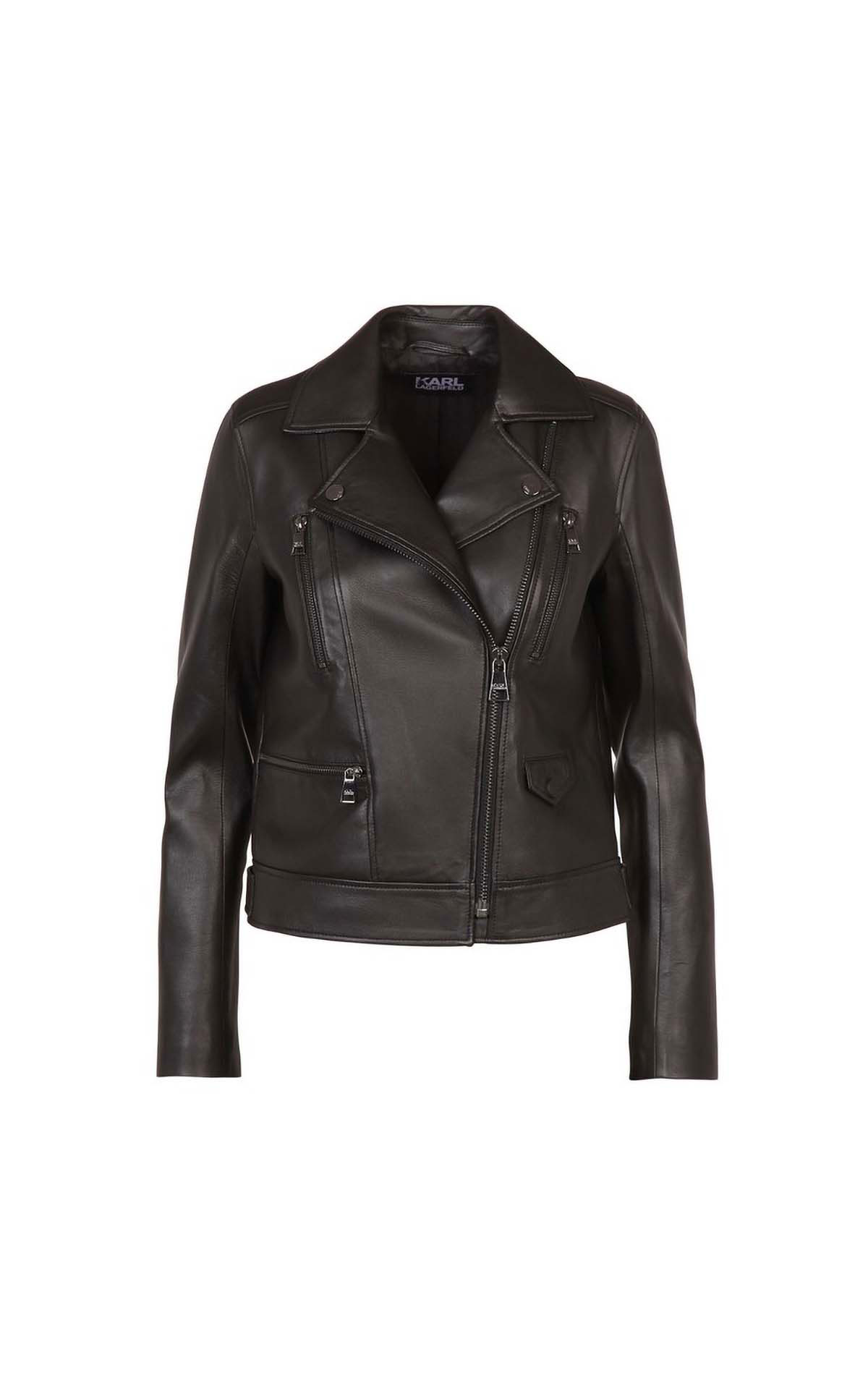 Karl Lagerfeld Ikonik odina biker jacket at The Bicester Village Shopping Collection