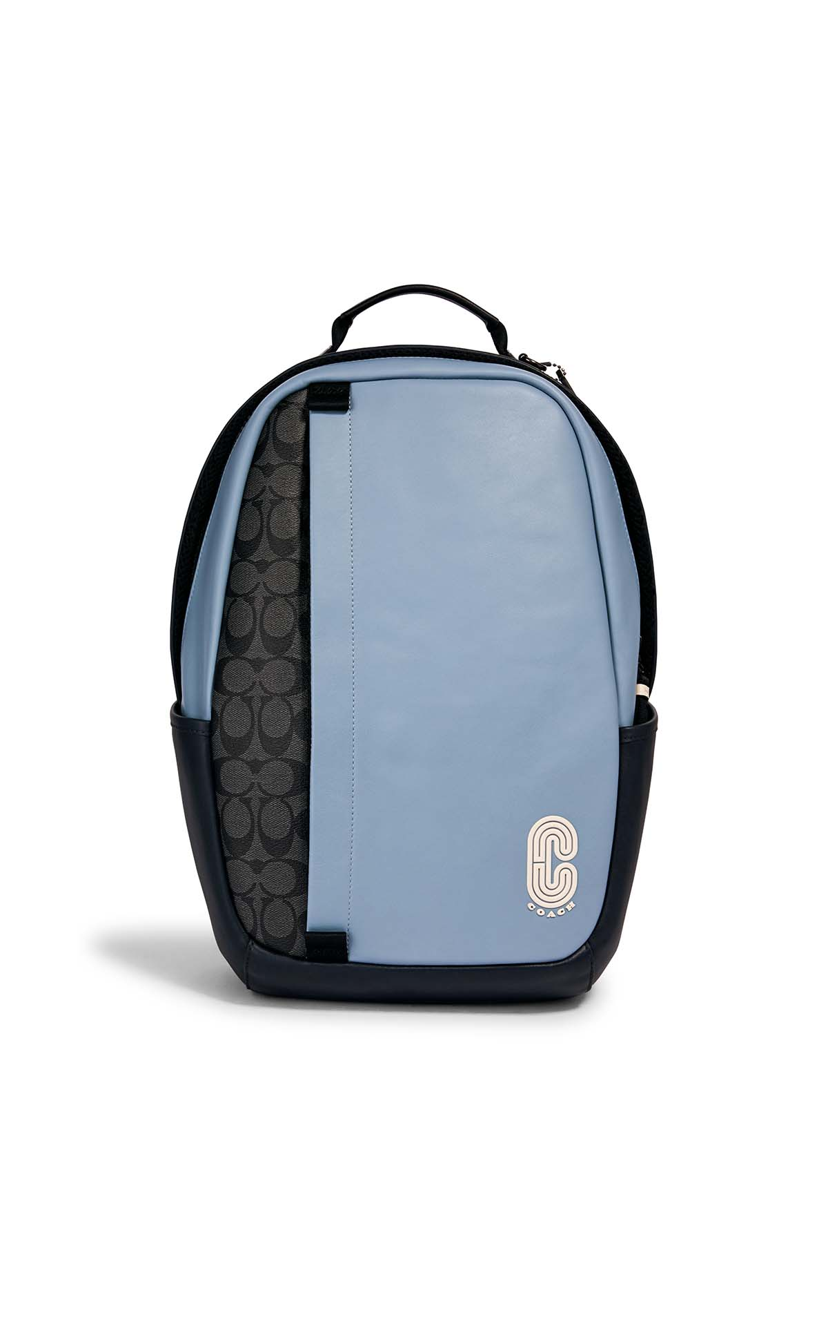 Coach Edge backpack in signature colourblock in blue/charcoal at The Bicester Village Shopping Collection