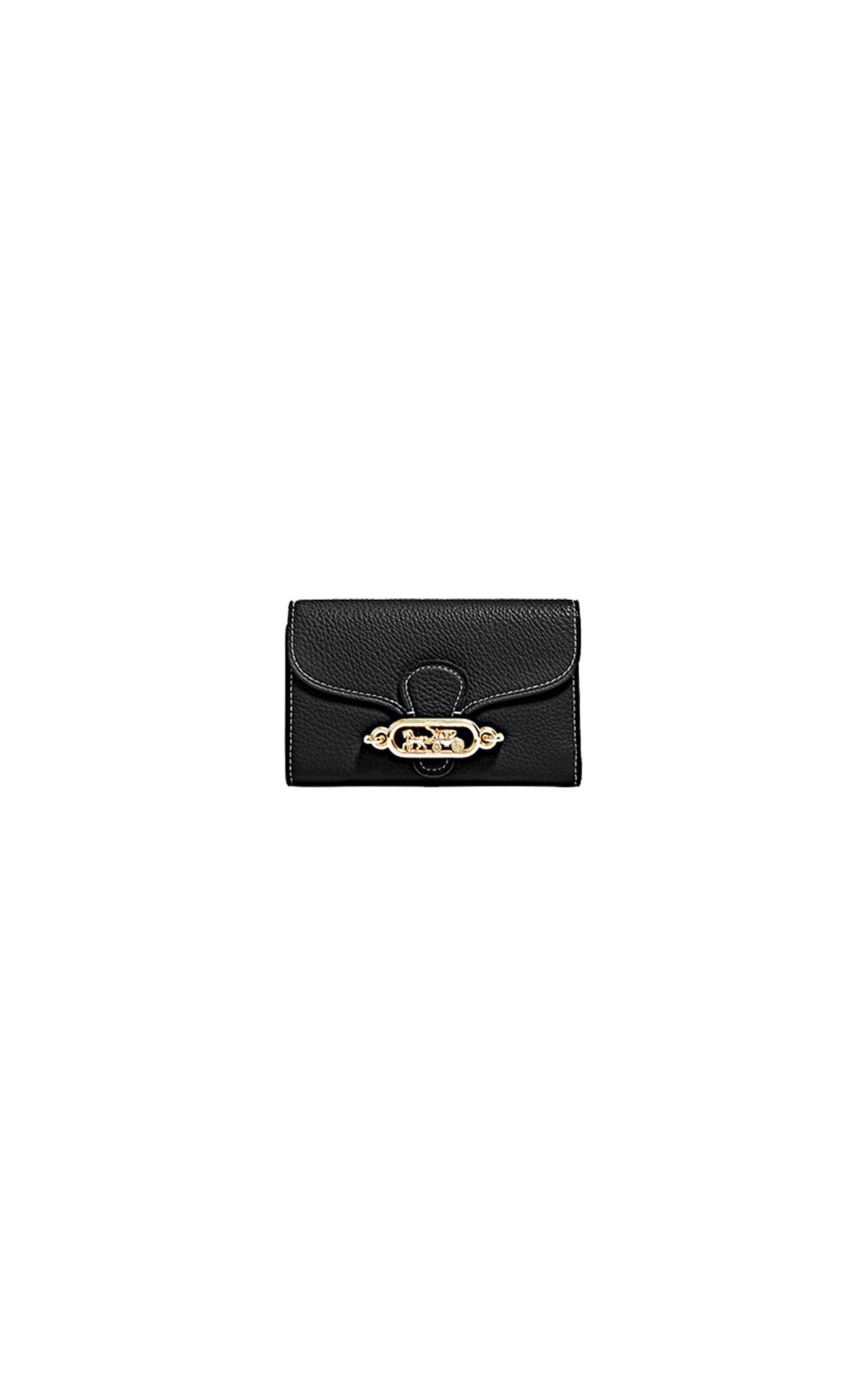 Jade medium black envelope wallet Jennifer Lopez Coach