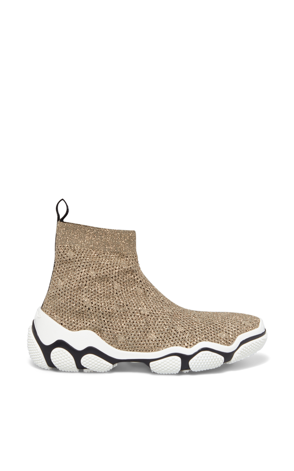 La Vallée Village REDValentino Gold sneakers stretch knit