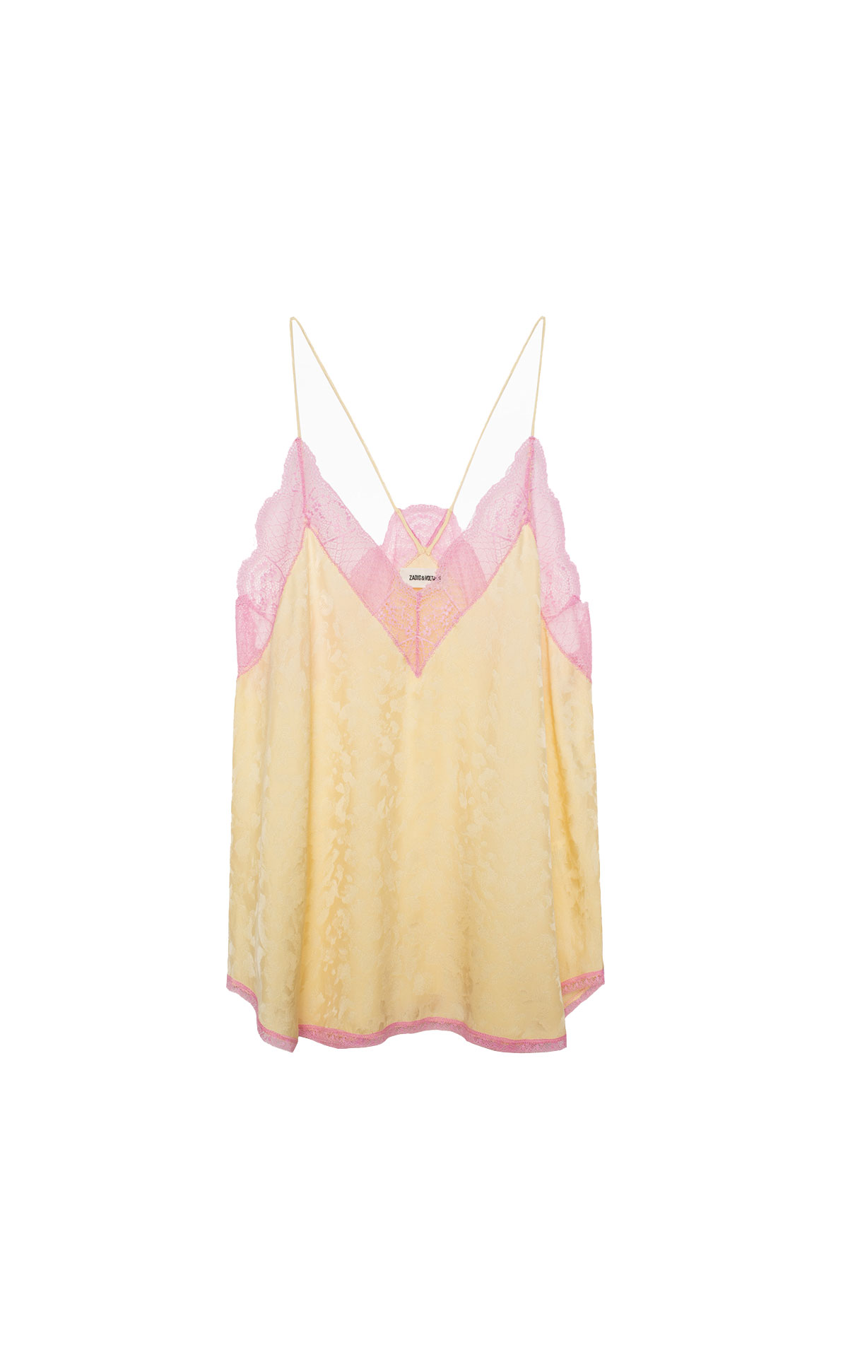 Zadig & Voltaire Yellow jacquard camisole from Bicester Village