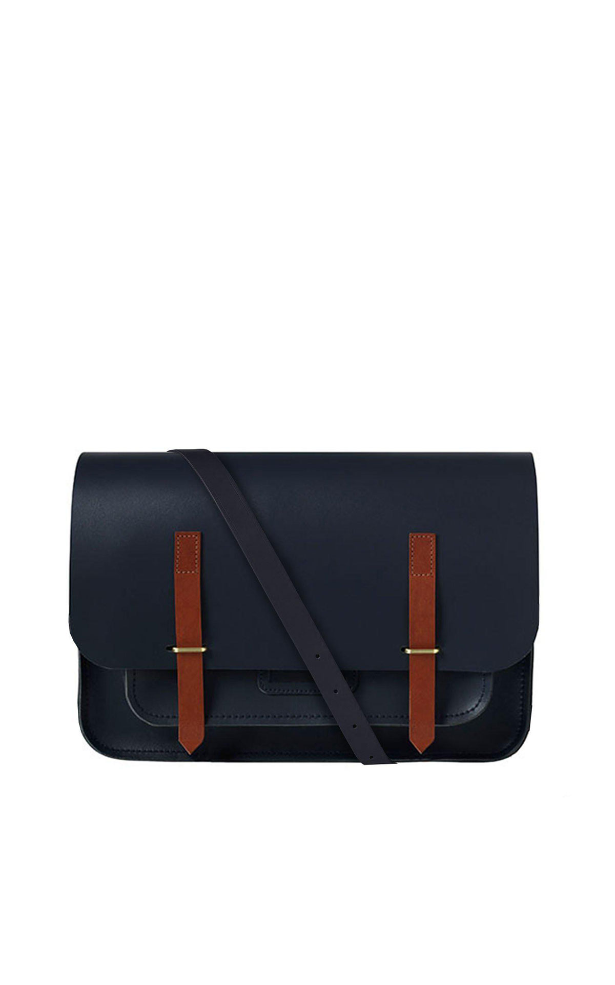 The Cambridge Satchel Company Messenger bag navy & tan from Bicester Village