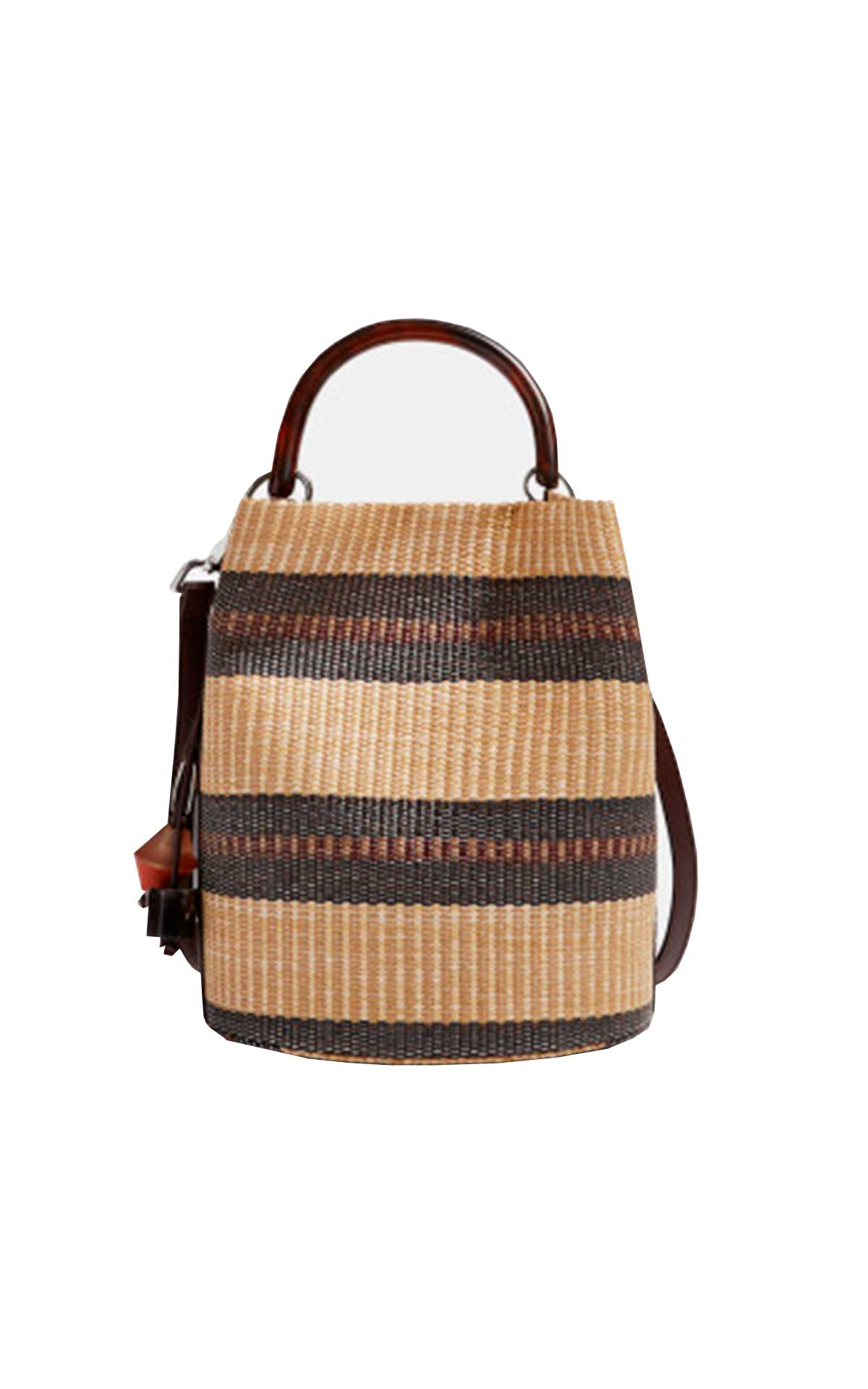 Raffia bucket bag Adolfo Dominguez