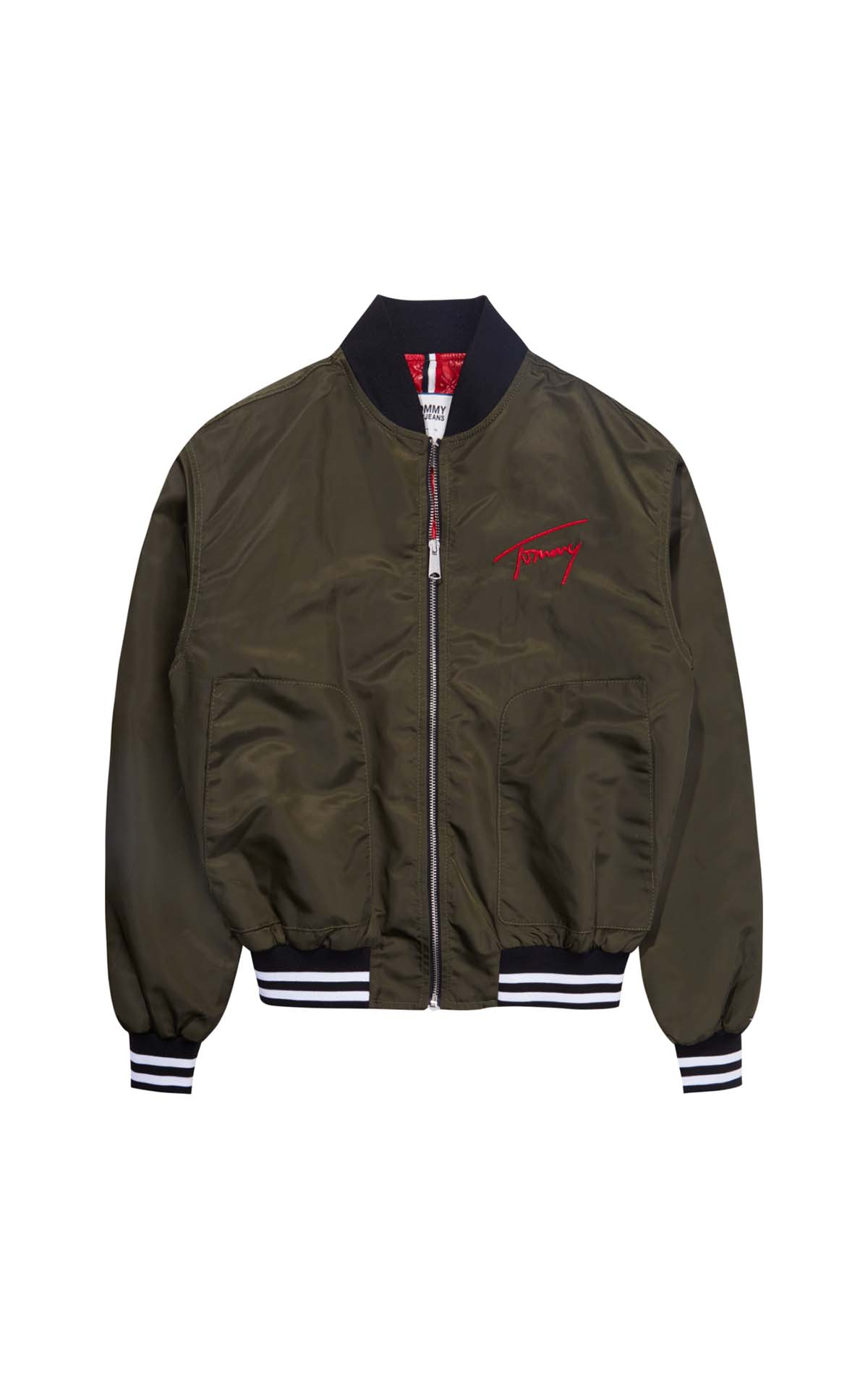 Green bomber for man Tommy Hilfiger