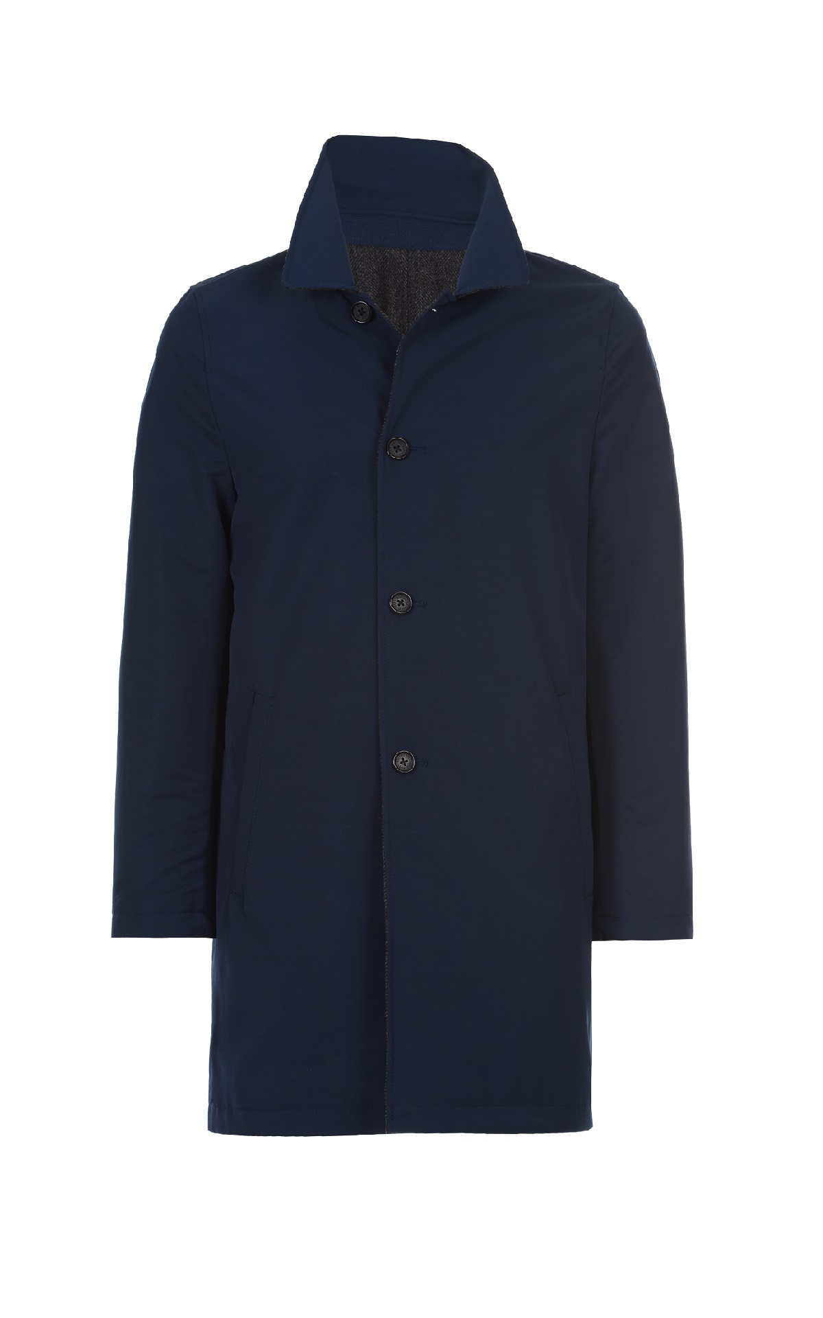 Navy blue reversible trench Brooks Brothers