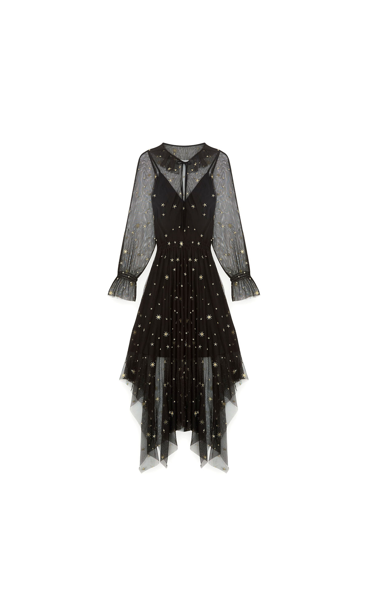 Maje Star-embroidered scarf dress at The Bicester Village Shopping Collection