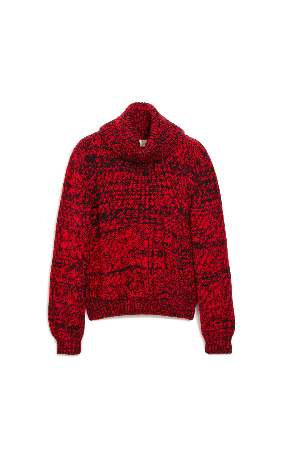 Mulberry May roll neck jumper chunky fleck wool scarlet from Bicester Village