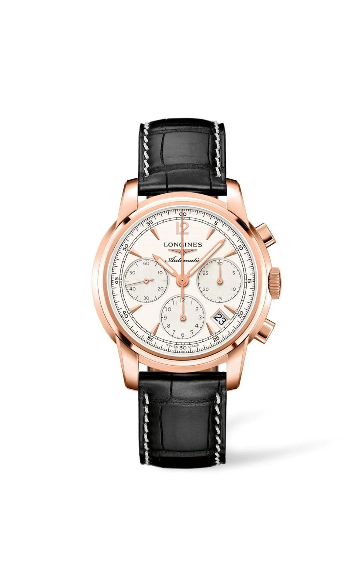 Hour Passion The Longines saint imier collection 18ct pink gold automatic gents watch from Bicester Village