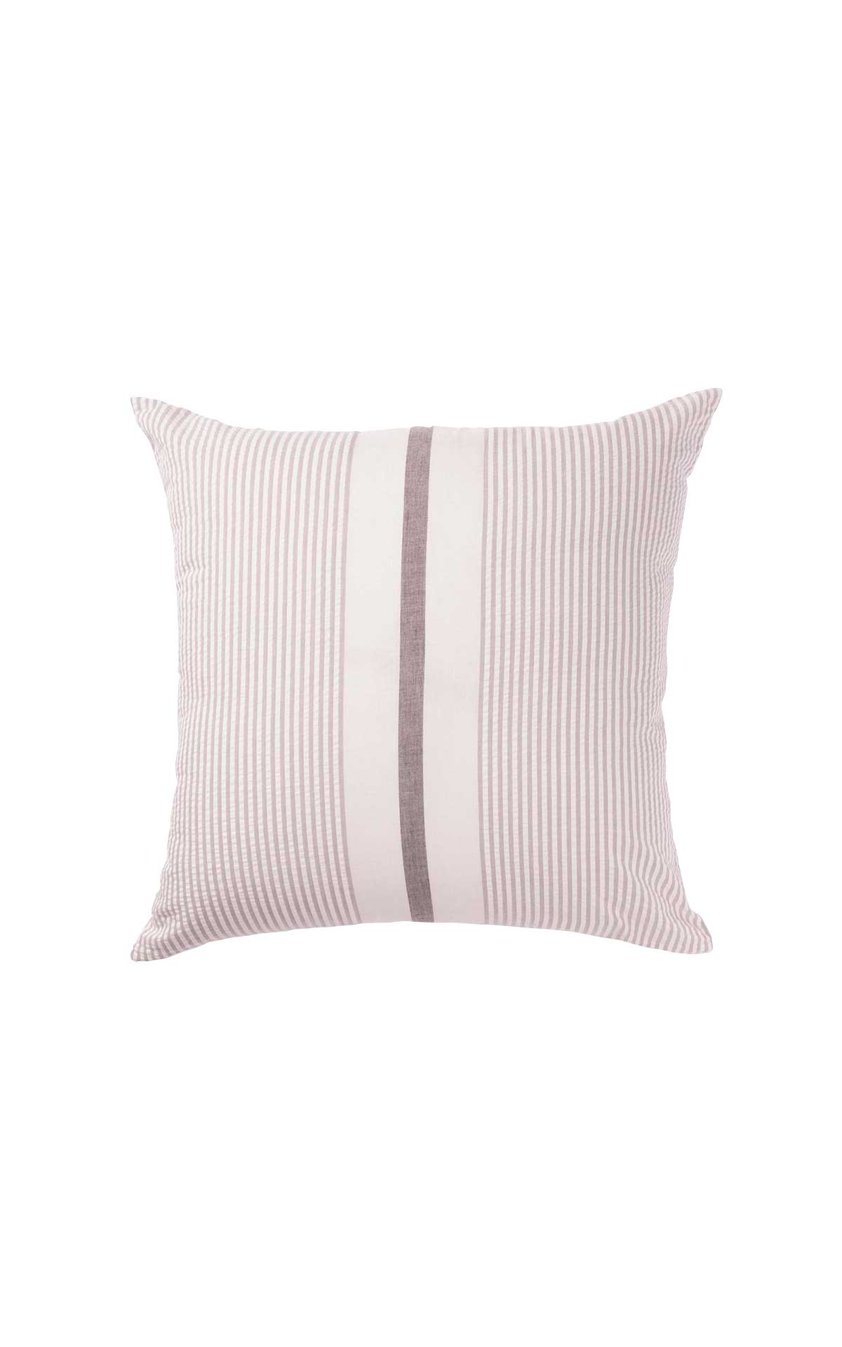 Beige striped cushion cover Textura